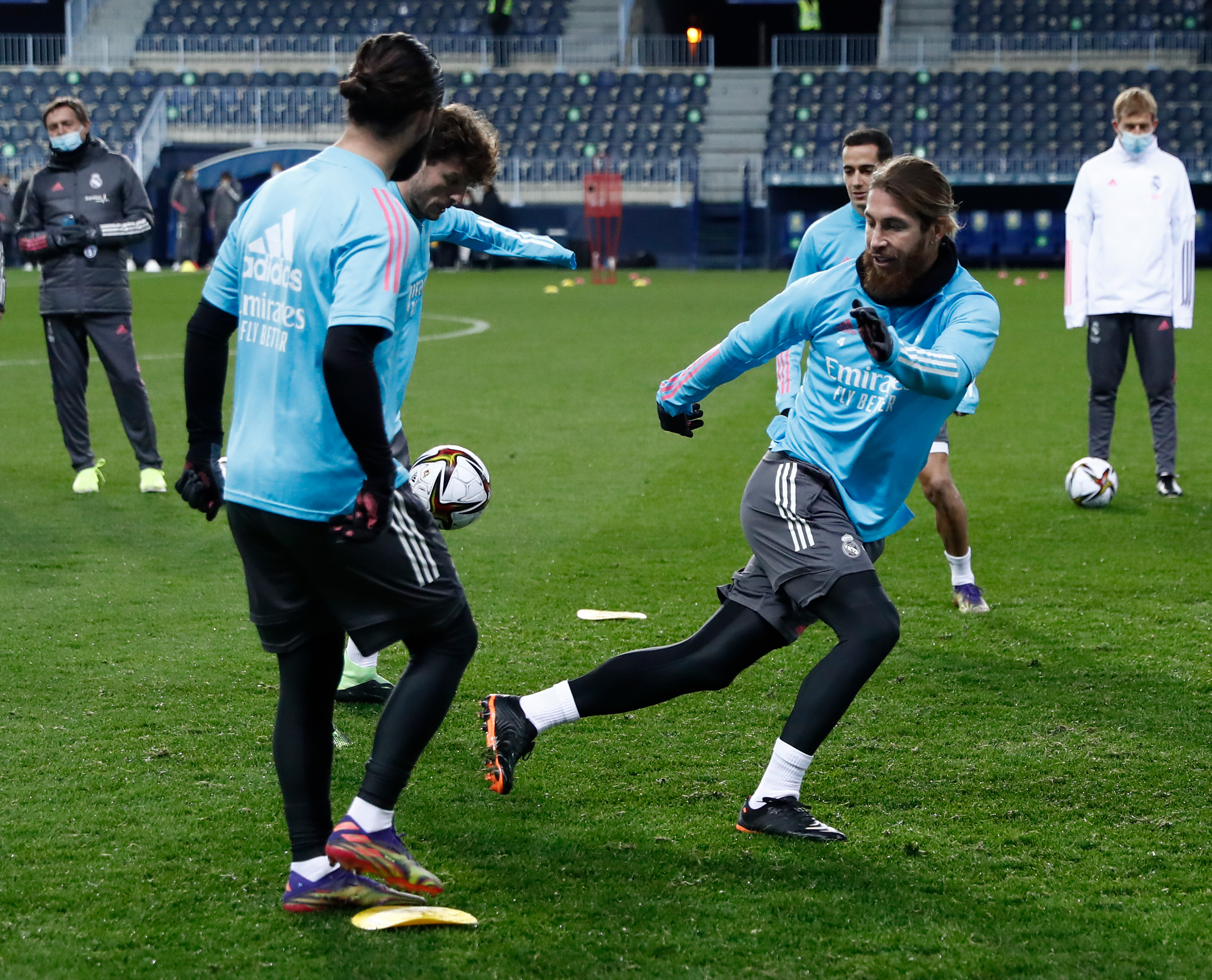 Real Madrid Training Session Spanish Super Cup semi-final