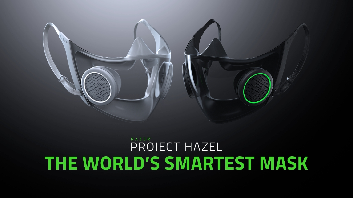 Project Hazel from Razer is the world's smartest facial mask for everyday use with N95 protection, a replaceable and rechargeable active ventilation system and a transparent shield for social interaction.