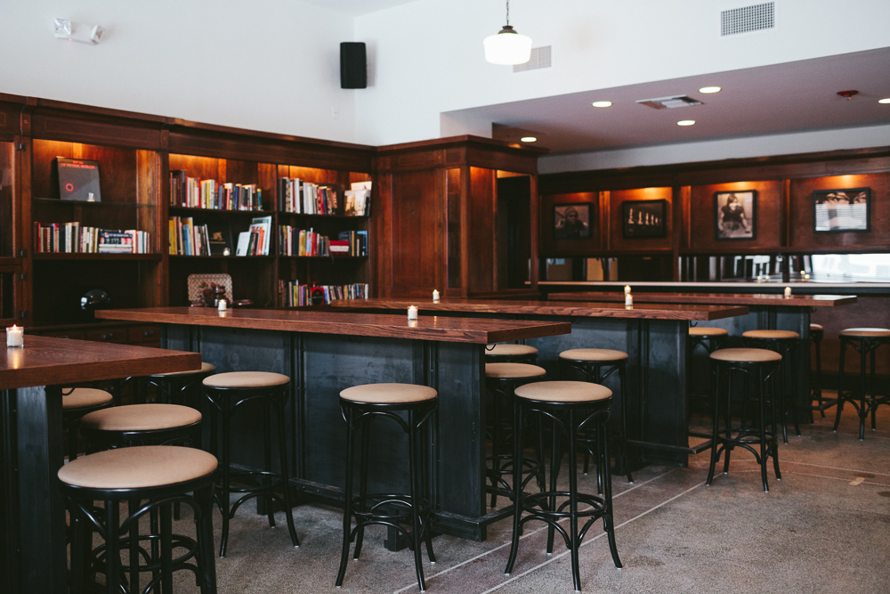 The apothecary interior and bar stools at Craft Work.