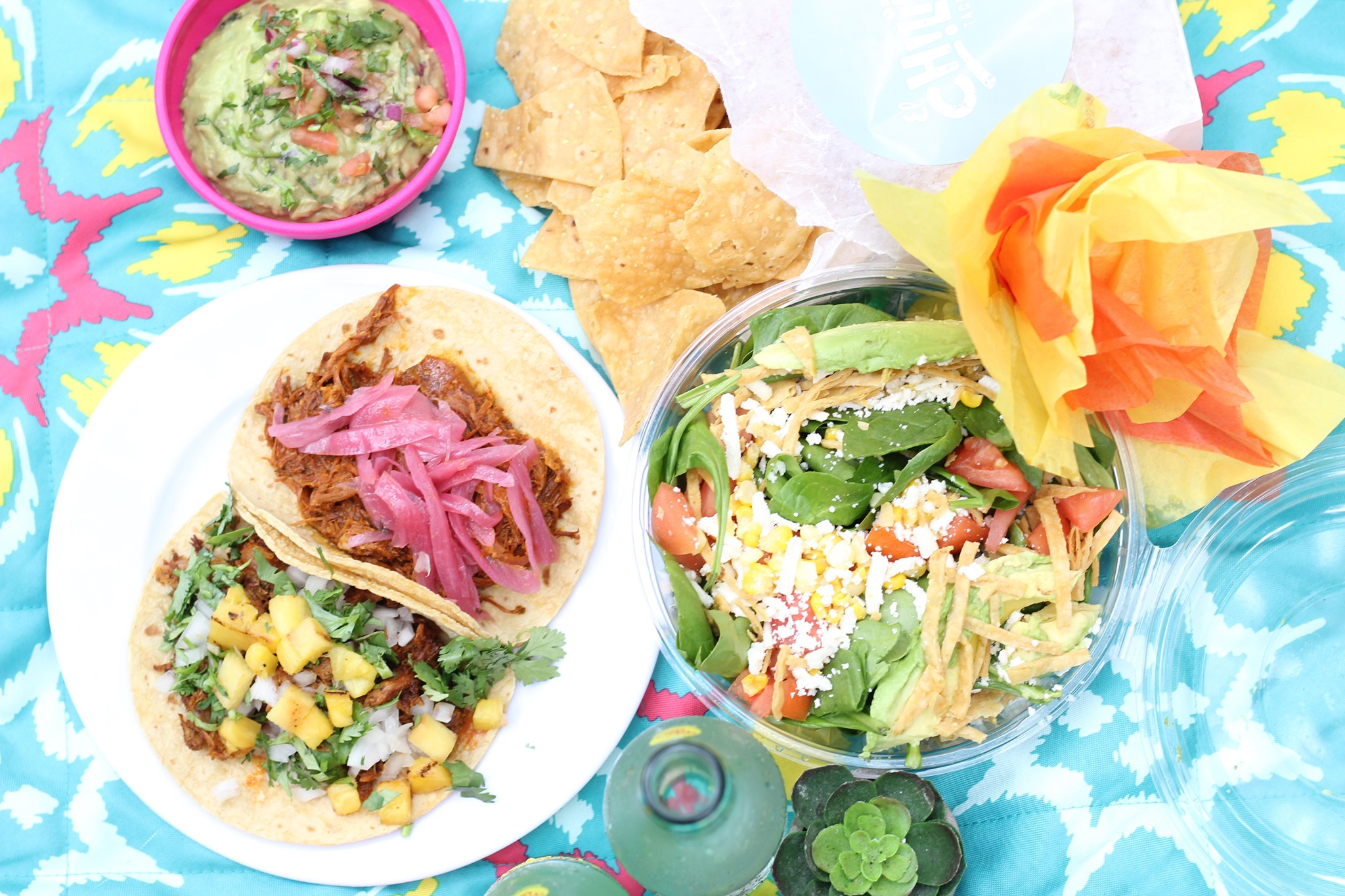 Tacos and dishes from El Chilito