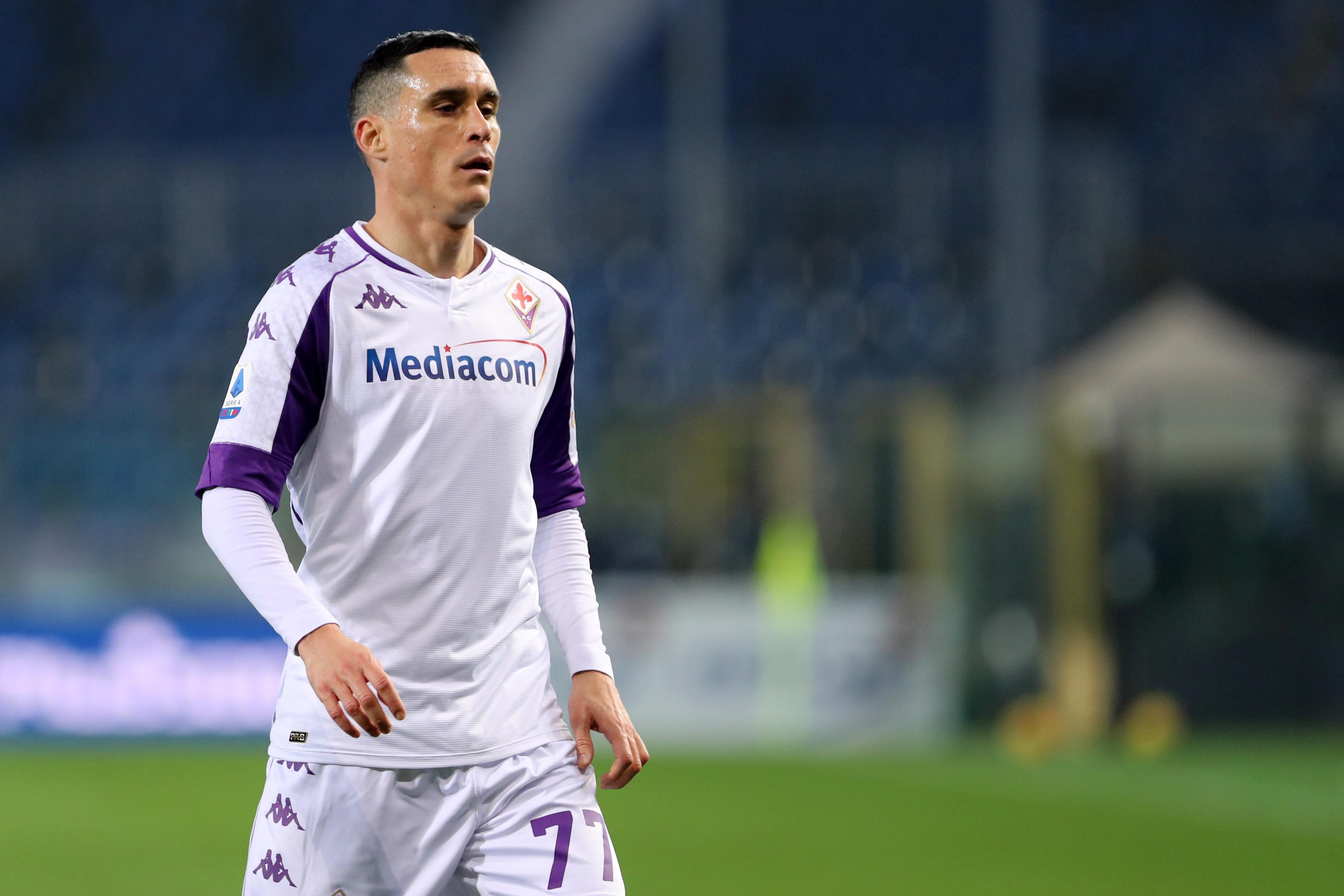 Jose Maria Callejon of Acf Fiorentina looks on during the...