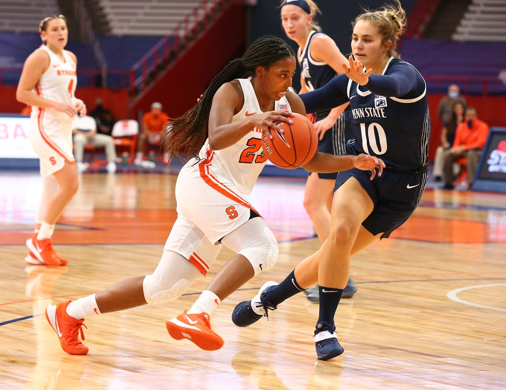 12.6.20 | Kiara Lewis versus Penn State Photo byMichael J. Okoniewski, Syracuse Athletics