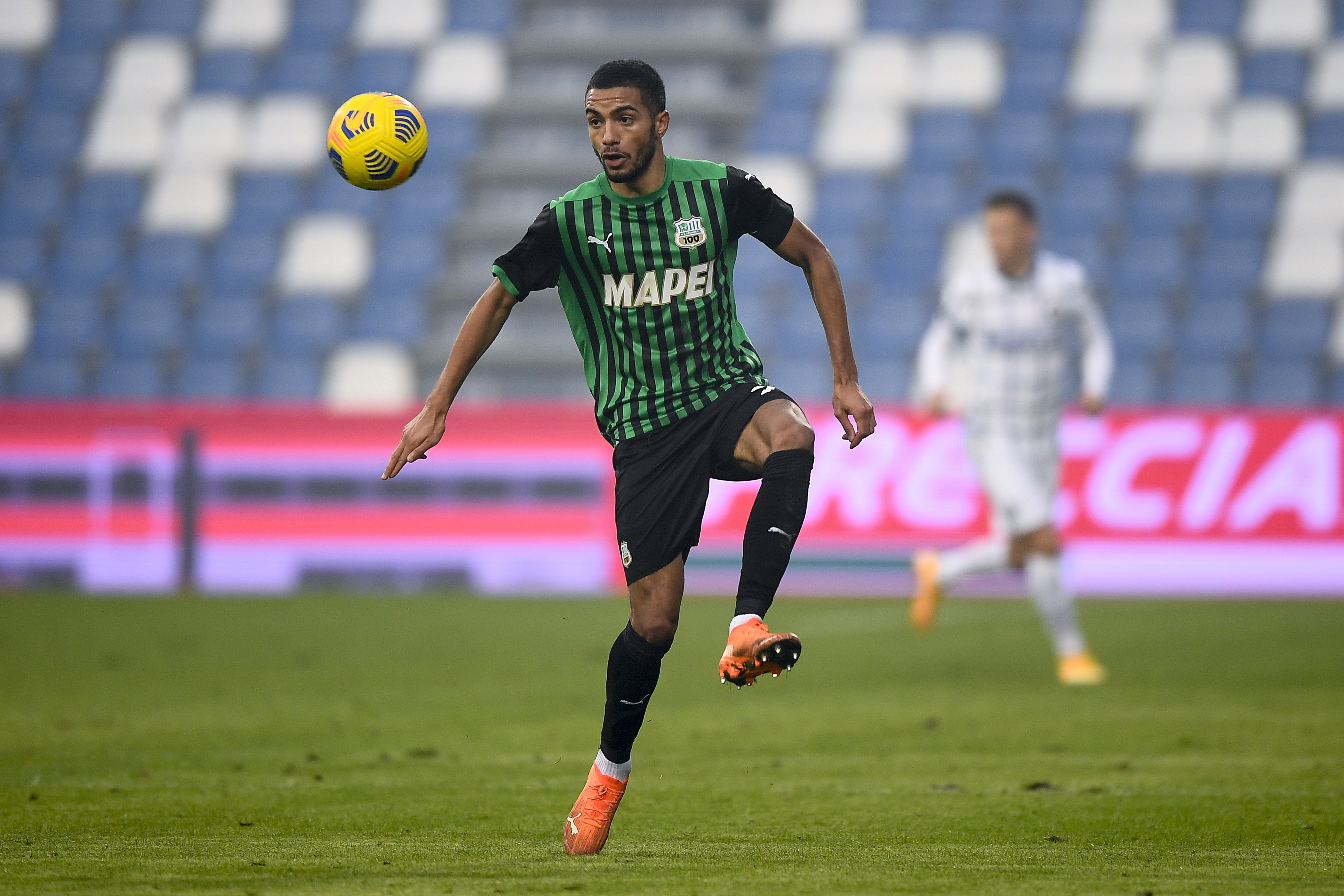 Jeremy Toljan of US Sassuolo in action during the Serie A...