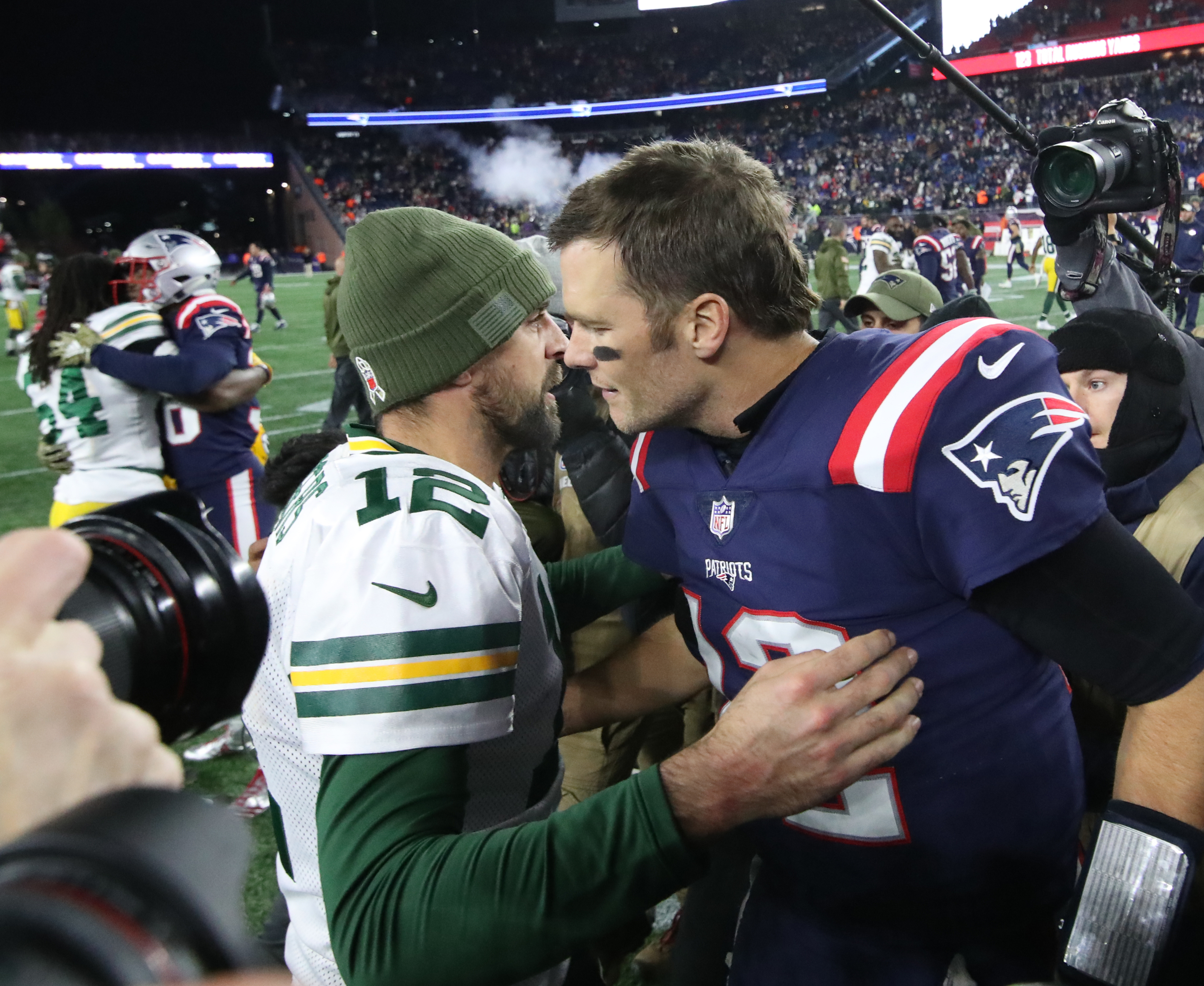 Green Bay Packers Vs. New England Patriots At Gillette Stadium