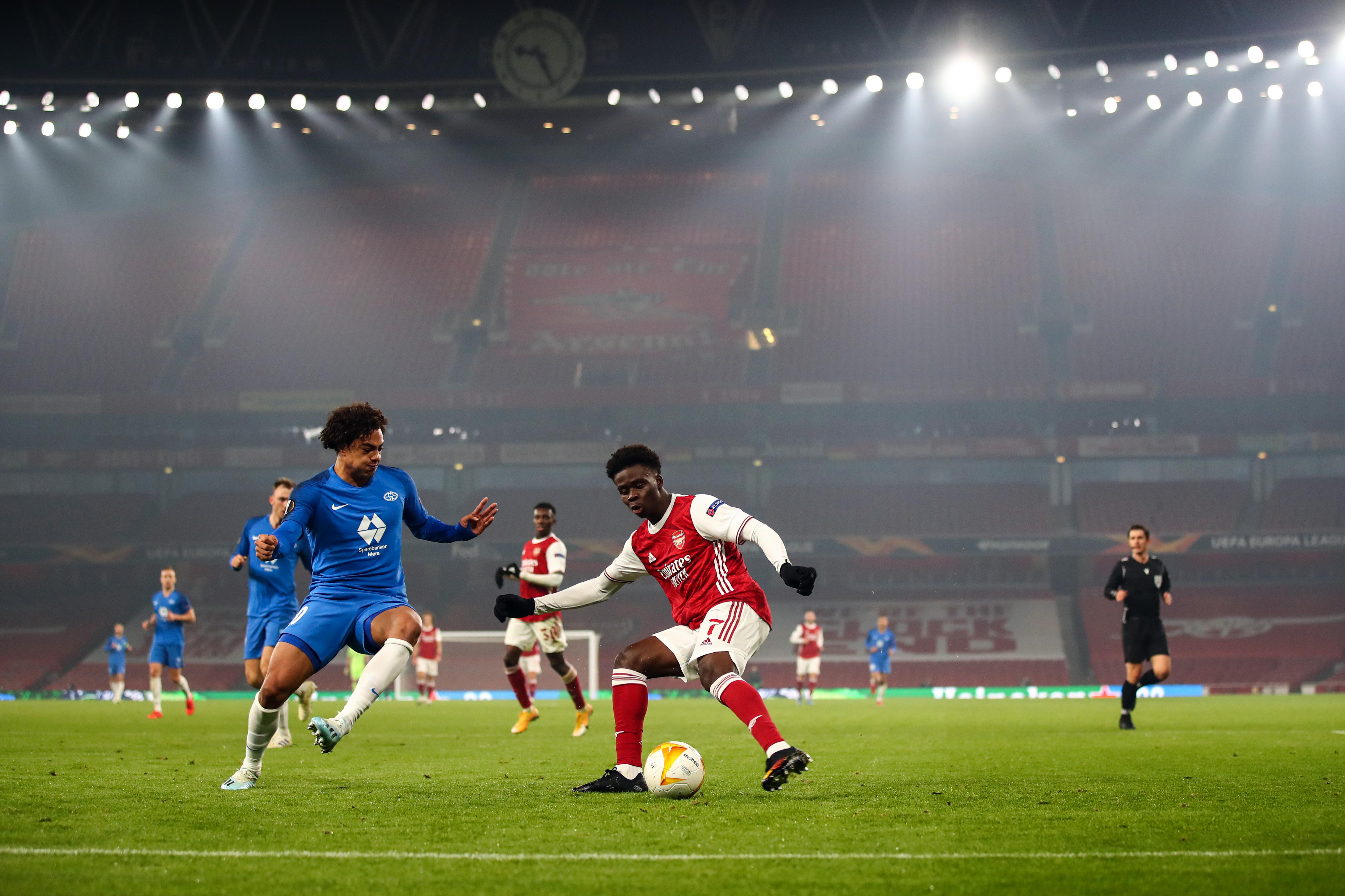 阿森纳对莫尔德FK:B组-欧洲联盟