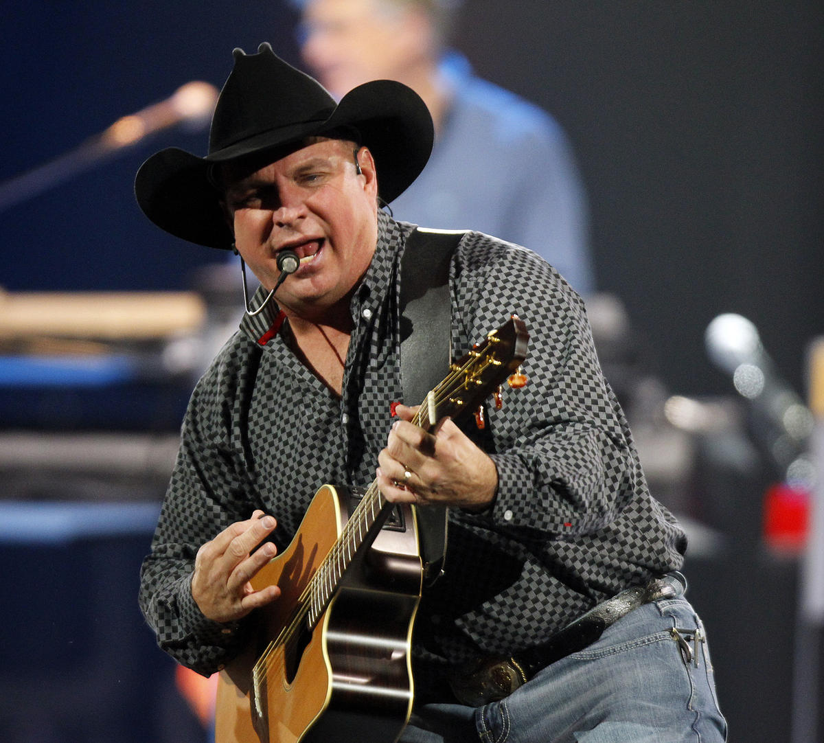 Garth Brooks performs his first of four shows at the Vivint Arena in Salt Lake City on Thursday, Oct. 29, 2015.