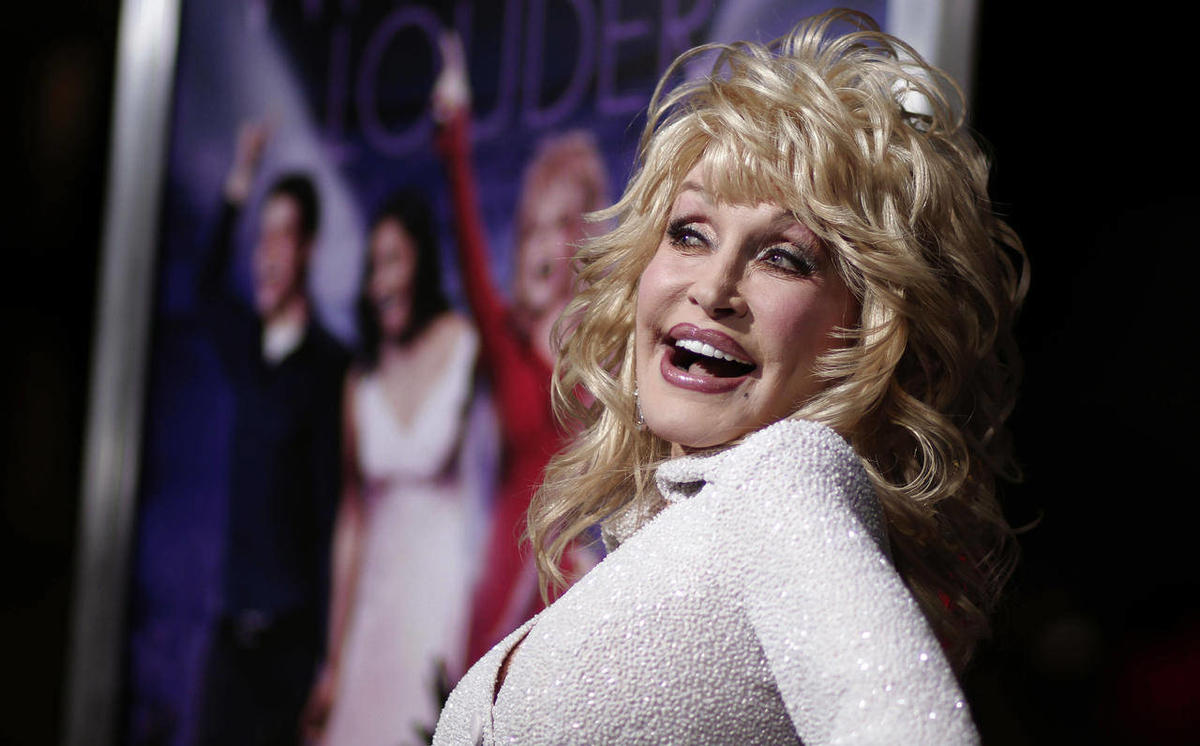 """Dolly Parton at the premiere of """"Joyful Noise"""" in Los Angeles, 2012."""