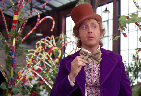 """Gene Wilder as Willy Wonka in a scene from the film """"Willy Wonka & the Chocolate Factory."""""""