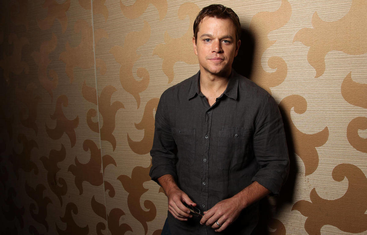 """Actor Matt Damon, from the upcoming film """"Elysium"""", poses for a portrait during Comic-Con, Friday, July 13, 2012, in San Diego."""