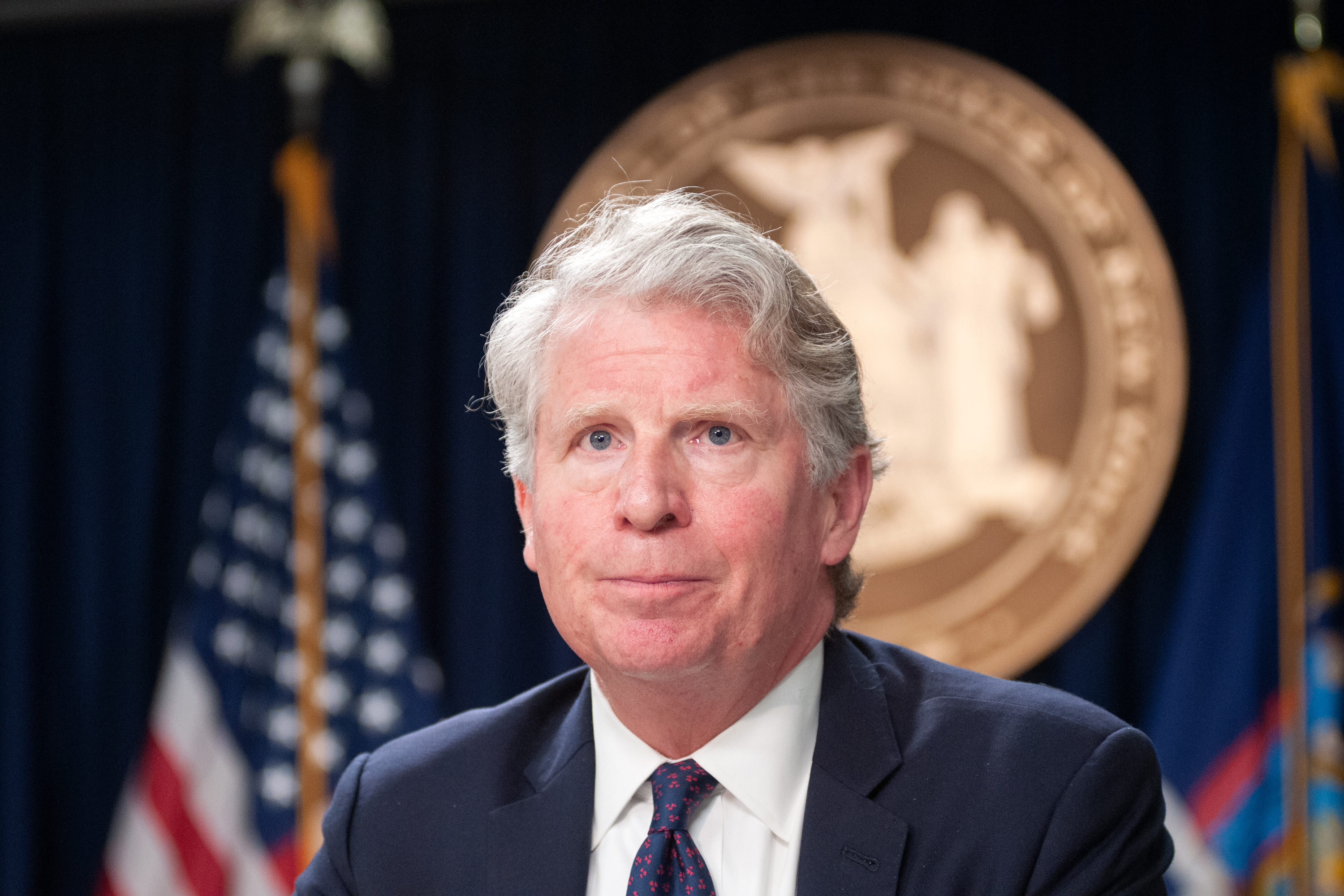 Manhattan District Attorney Cyrus Vance Jr. attends a press conference at Governor Andrew Cuomo's Midtown office, June 17, 2019.