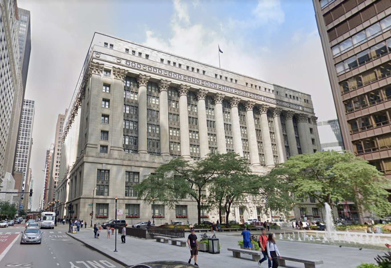 City Hall and the Cook County building will close Jan. 20, 2021.