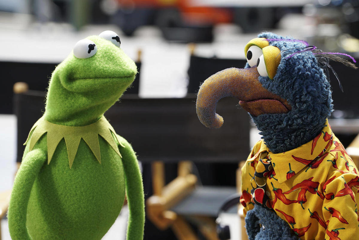 """This photo provided by ABC shows, Kermit the Frog, left, and Gonzo the Great, from """"The Muppets."""" The original 'Muppet Show' will arrive on Disney+ next month with some additional seasons"""