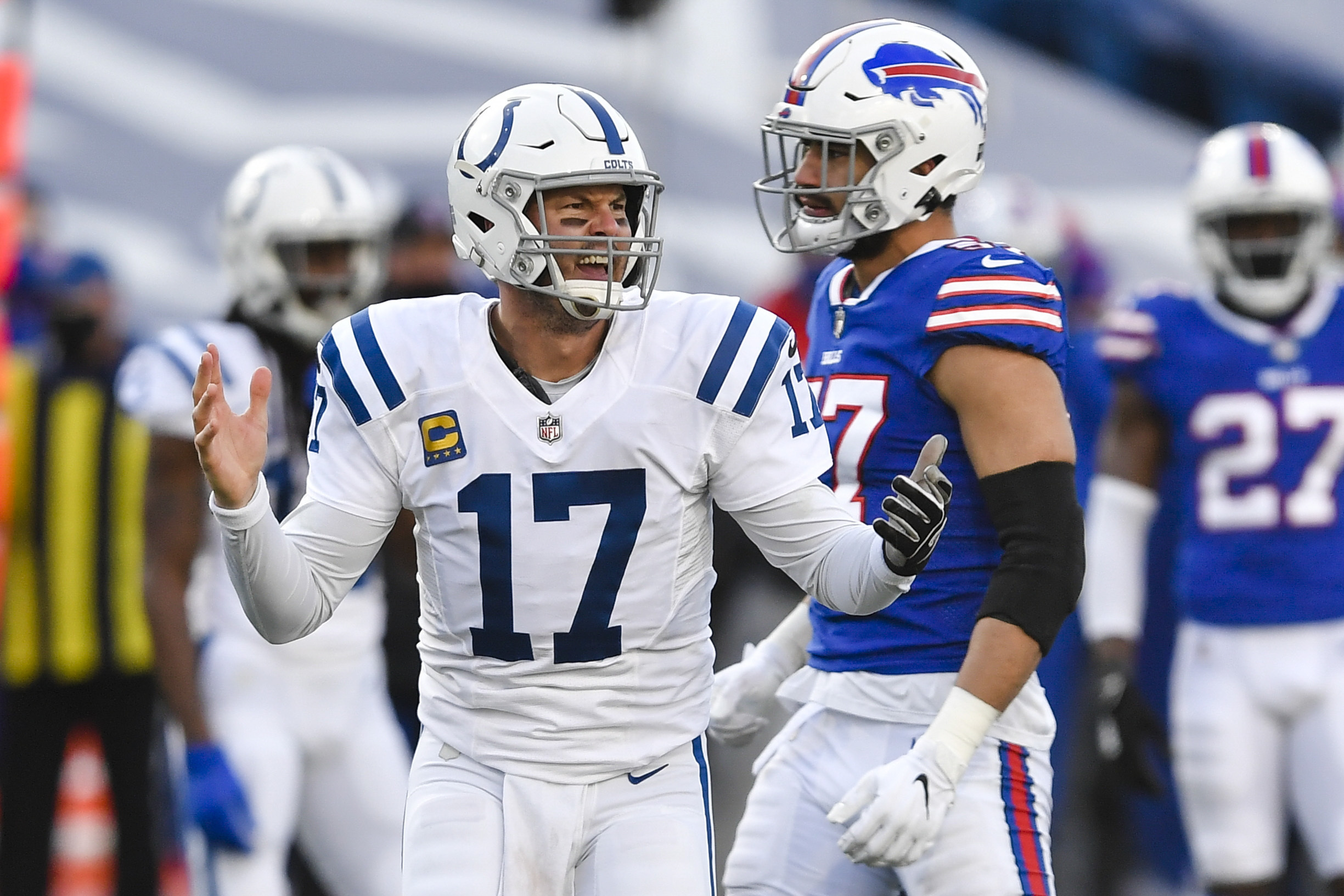 Colts quarterback Philip Rivers announced his retirement on Wednesday.