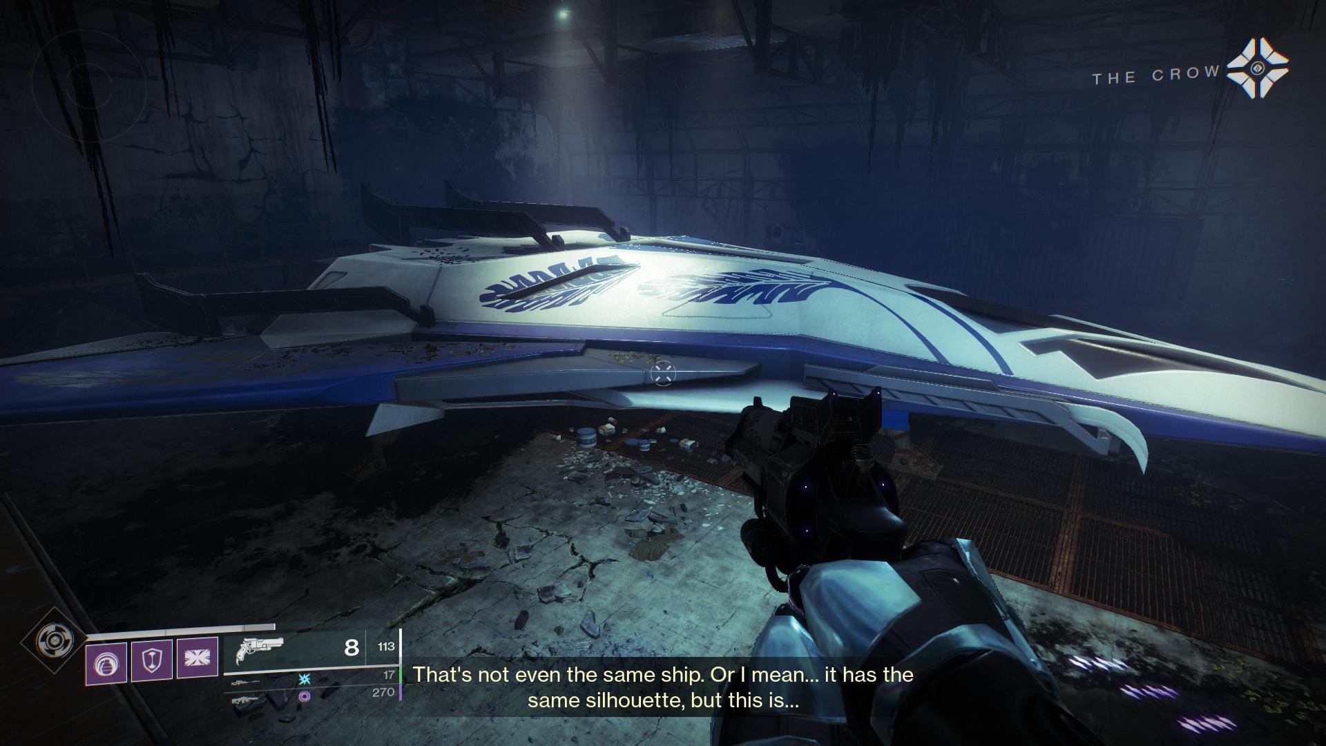 Destiny 2 Crow's ship