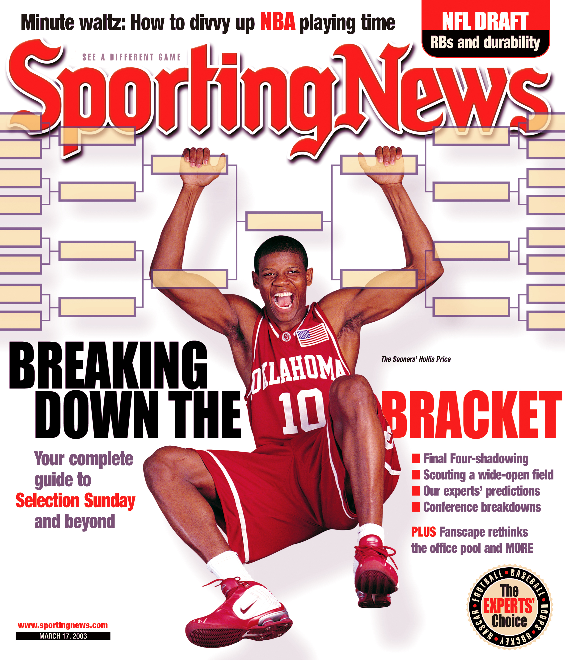 NCAA Football Covers - Oklahoma Sooners' Hollis Price - March 17, 2003