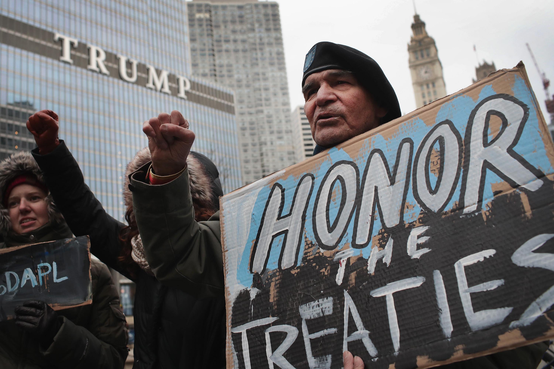 Activists In Chicago Protest Against Dakota Pipeline
