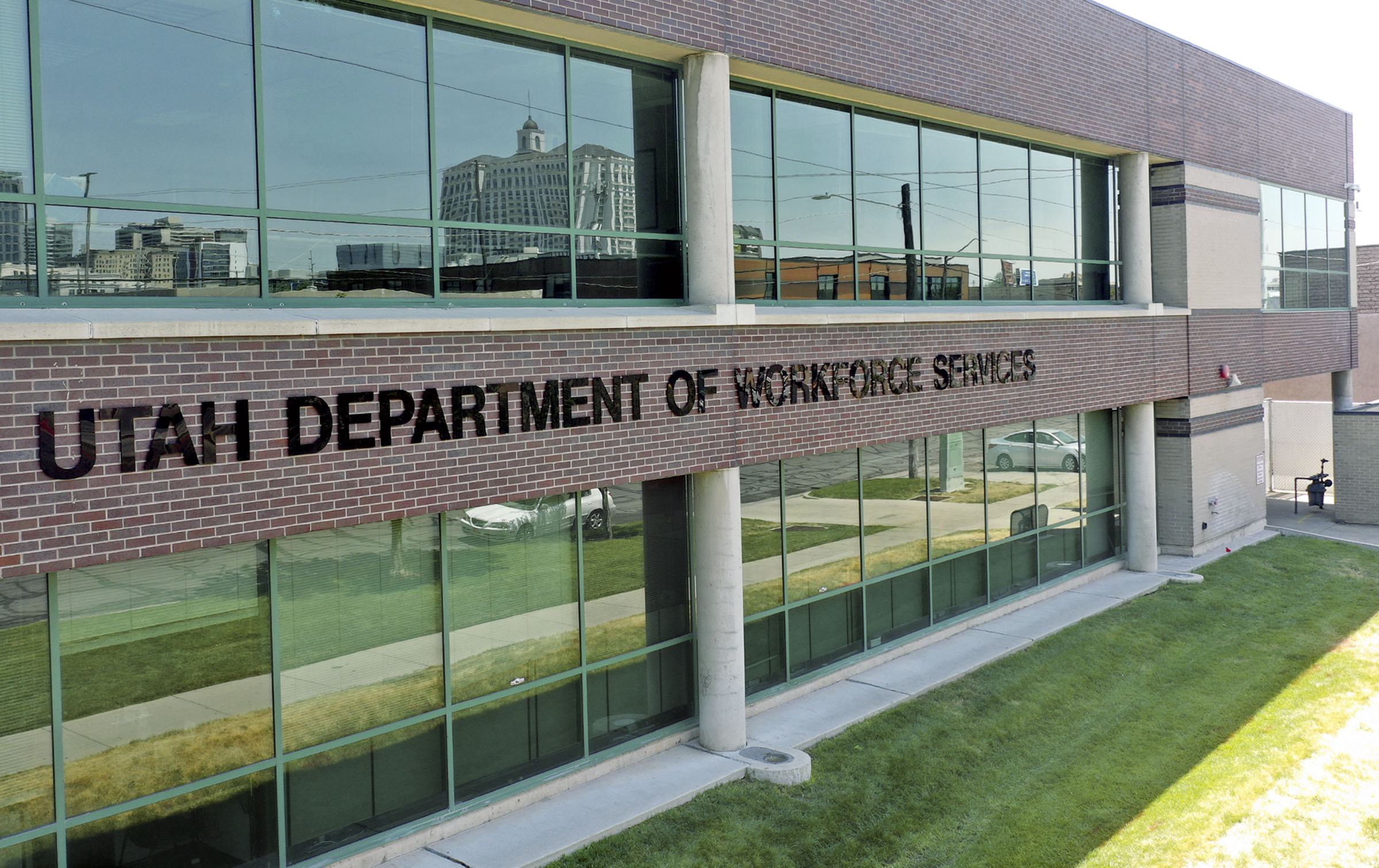 The Utah Department of Workforce Services in Salt Lake City is pictured on Thursday, July 16, 2020.