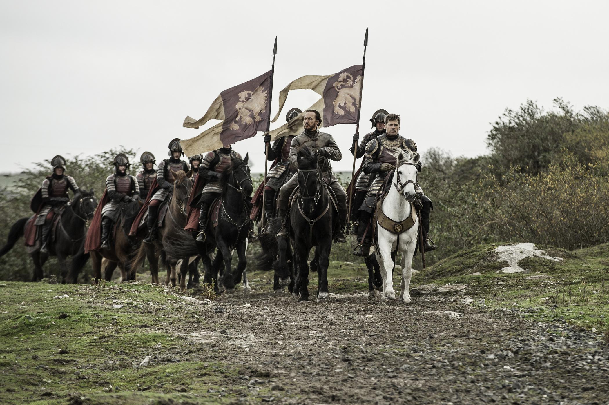 Game of thrones 610 - Jaime and Bronn on horseback