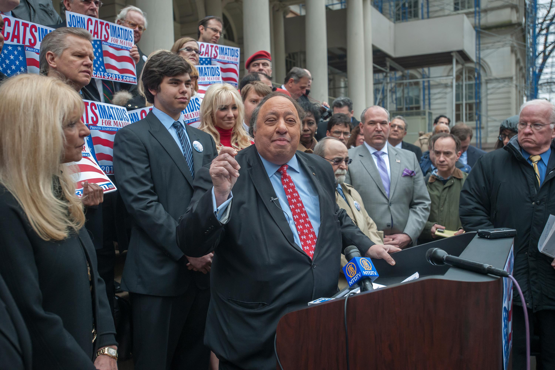 New York City businessman John Catsimatidis, a Republican, has floated the idea of running for mayor as a Democrat.