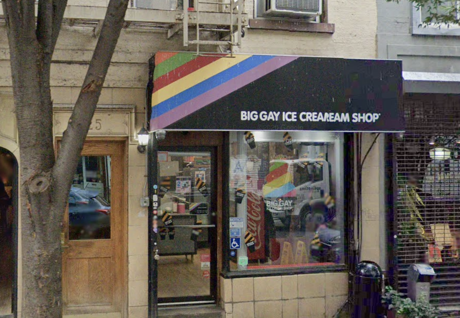 The exterior of the Big Gay Ice Cream shop in the East Village