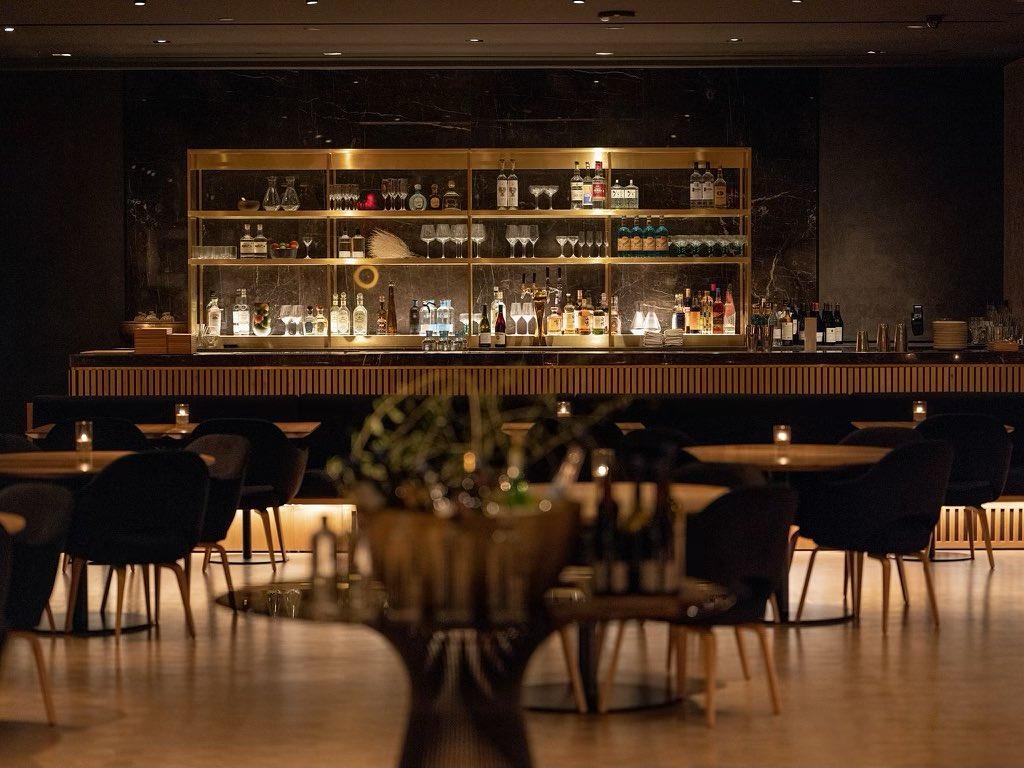A dark lounge