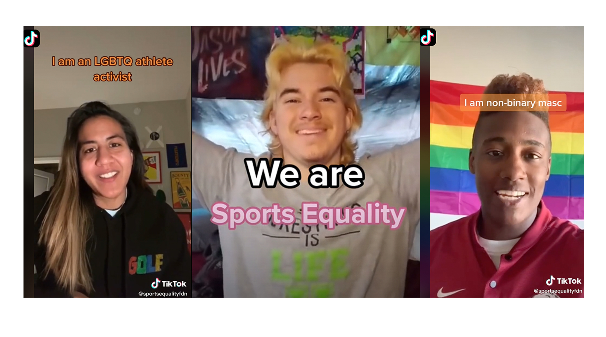 Maya Satya Reddy is a golfer who identifies as lesbian, Mack Beggs is a trans man and a college wrestler and KC is non-binary masc as well as a clinician for mental health and performance.