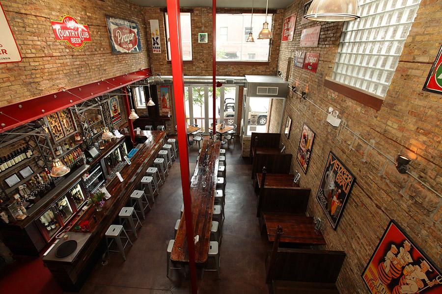 An empty bar shot taken from above.