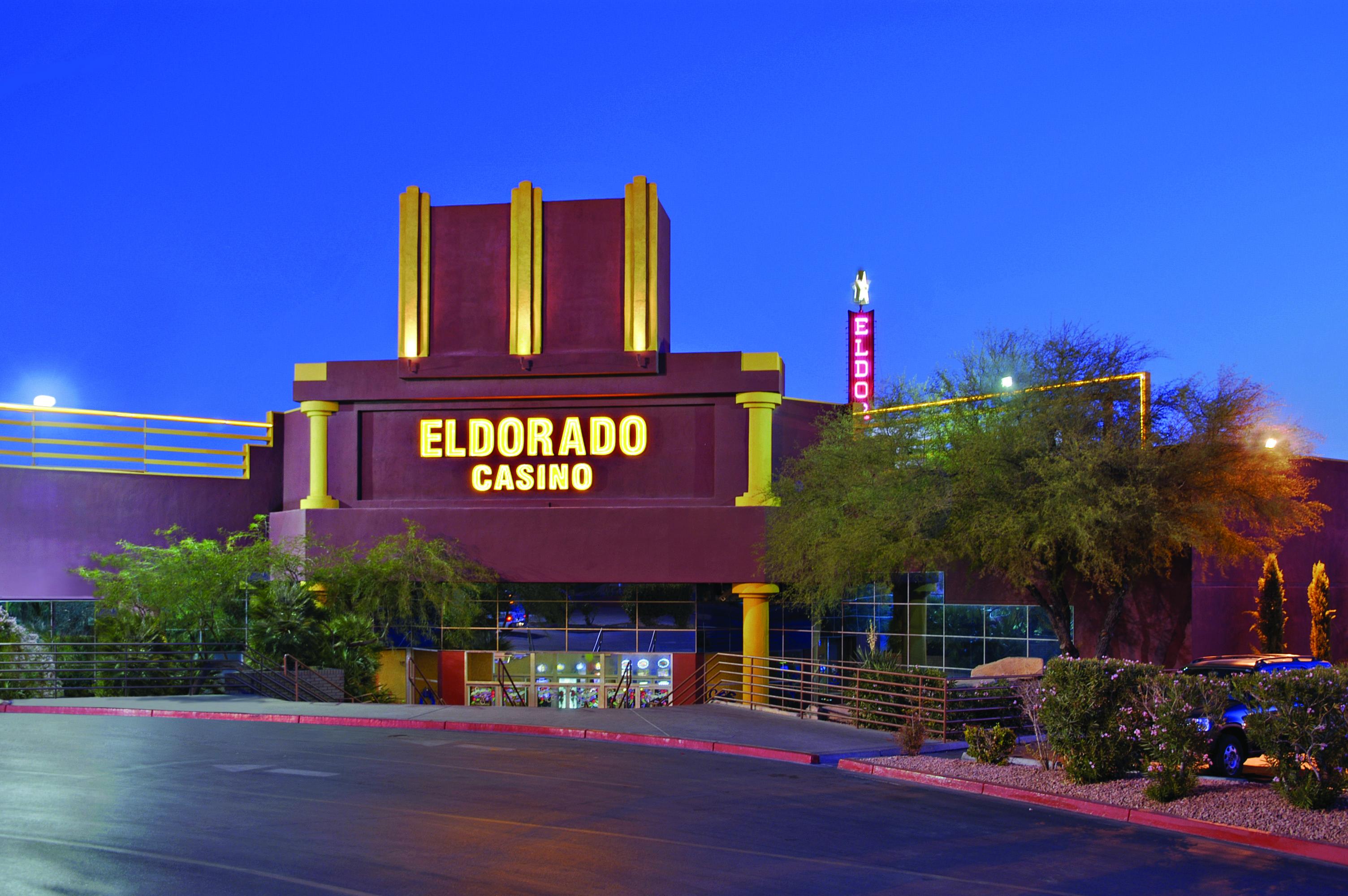 A casino at night