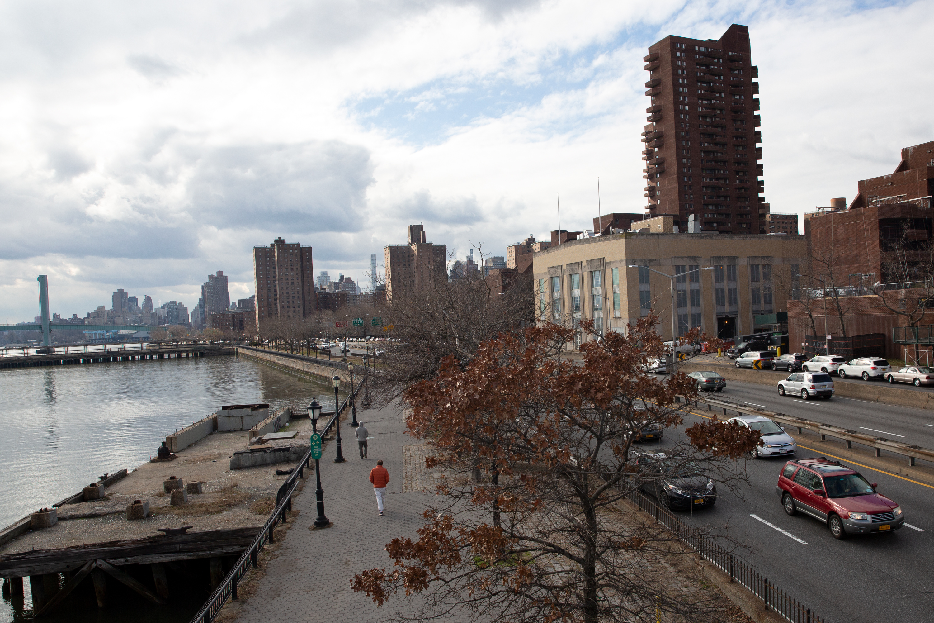 Parts of East Harlem are considered a high-risk flood risk zone, Jan. 19, 2021.
