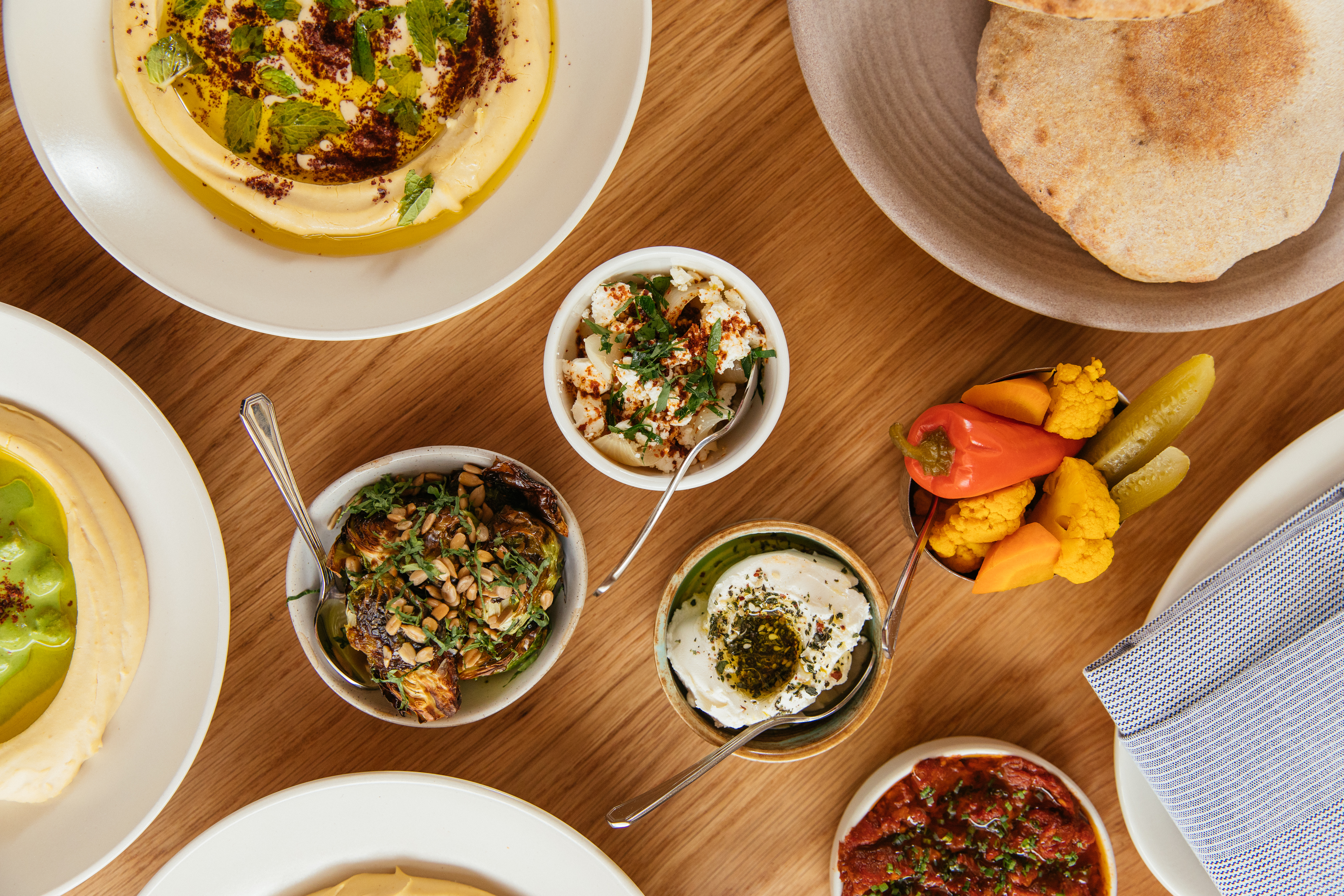 A spread of Middle Eastern spreads.