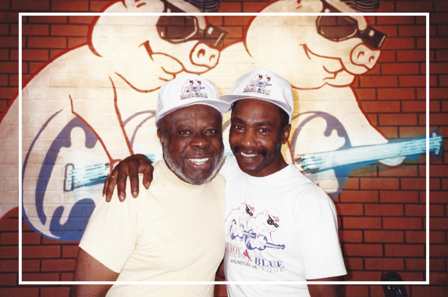 """Red Hot & Blue pitmaster Ernest """"Sonny"""" McKnight, right, with musician Rufus Thomas"""