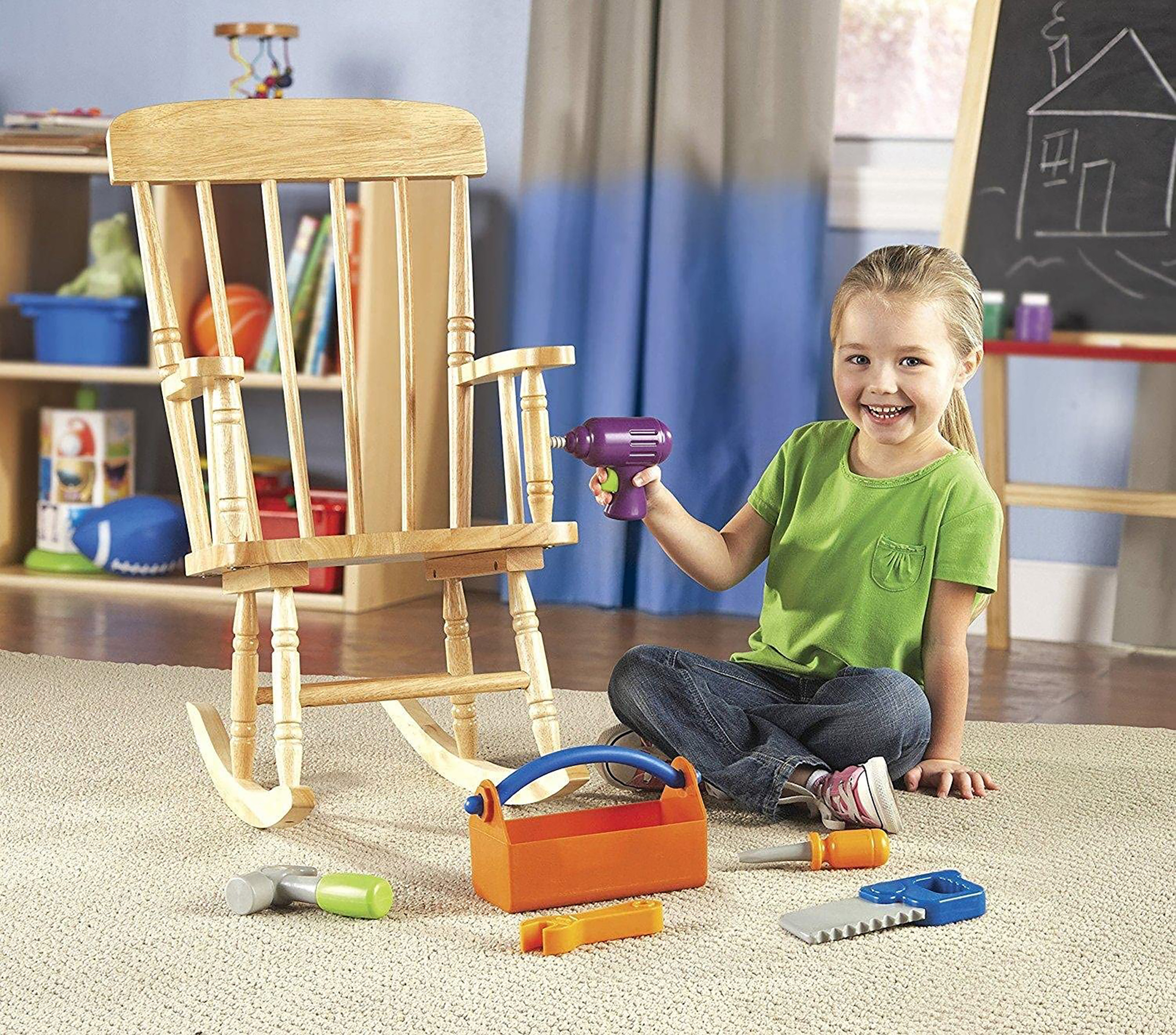 Kid Playing With Kid-Friendly Tools