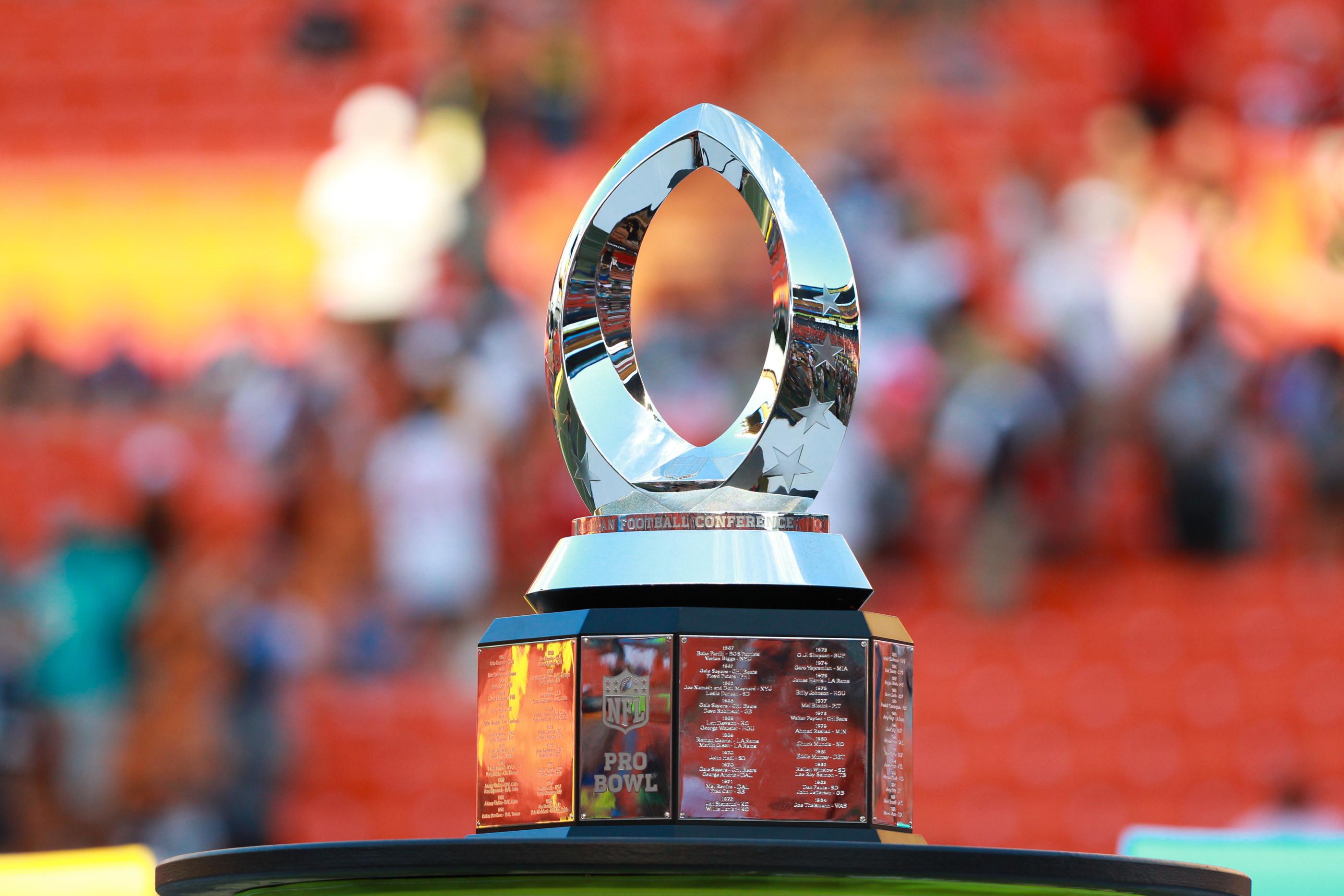 Trophy of the Pro Bowl at Aloha Stadium on Oahu, HI.