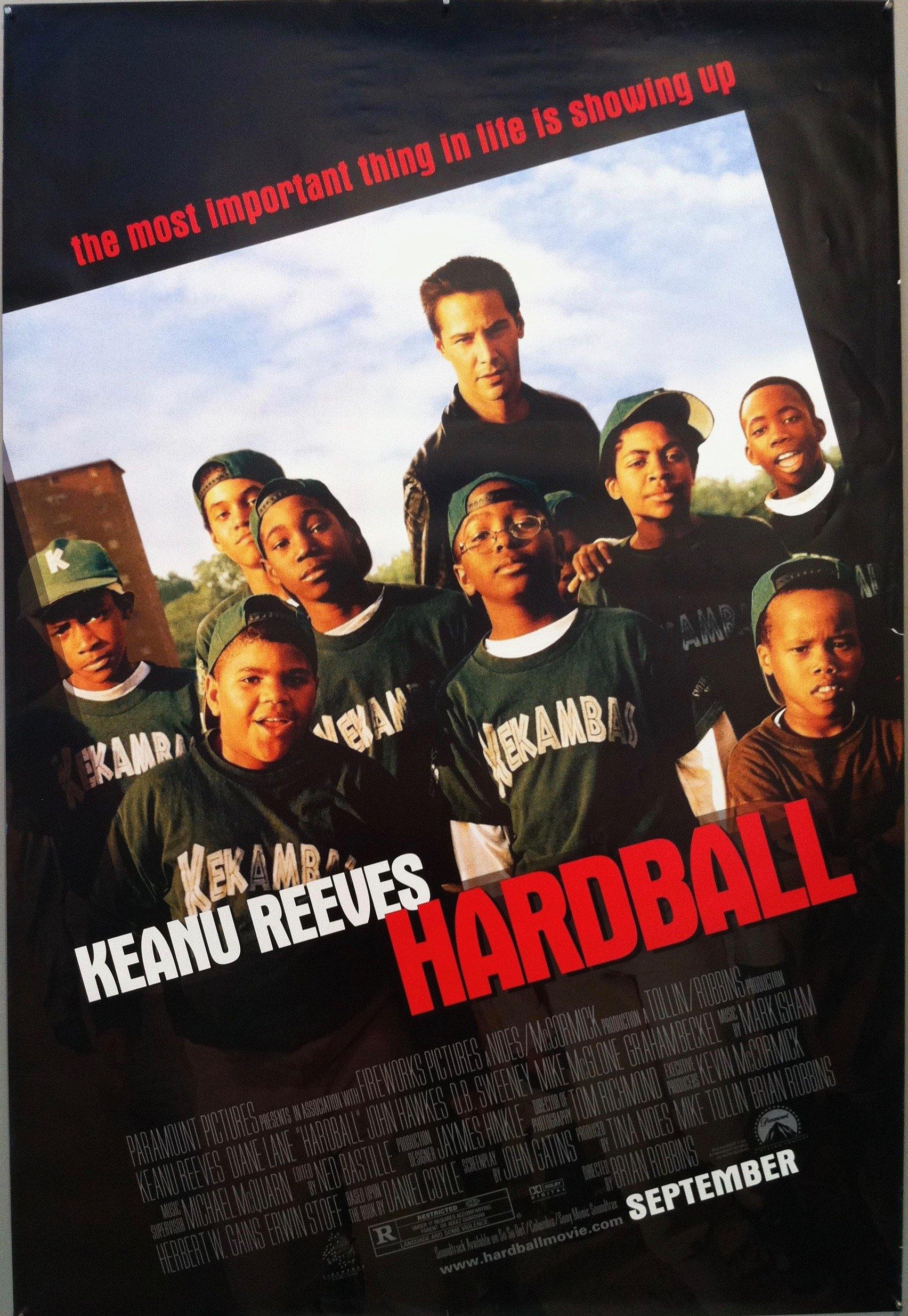 The poster for the movie Hardball
