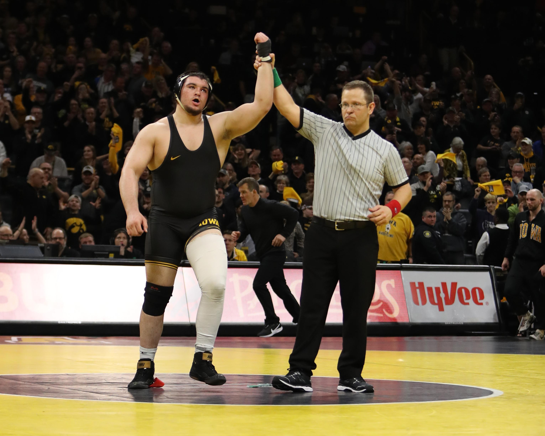 Iowa heavyweight Tony Cassioppi