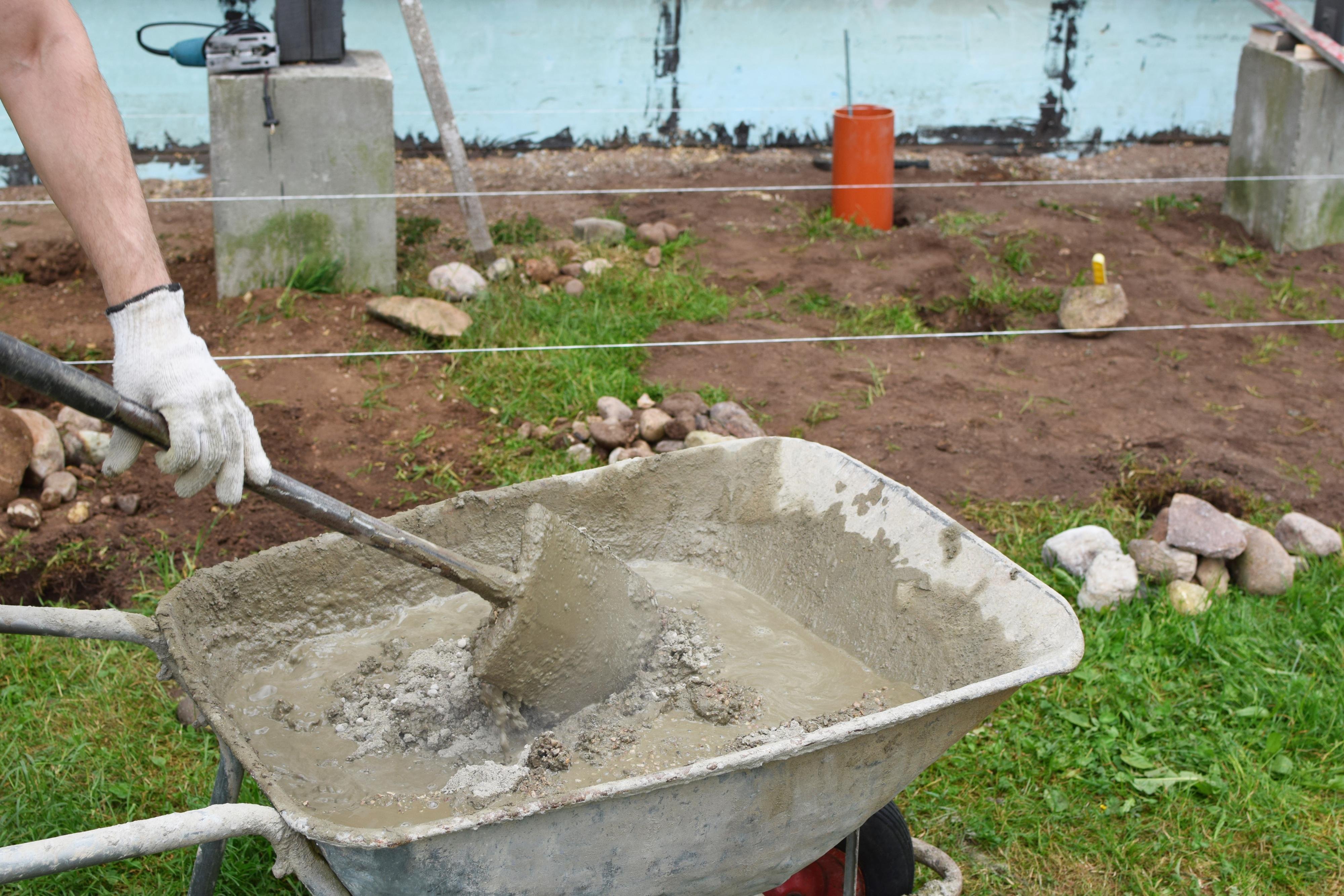 Concrete, Wheelbarrow
