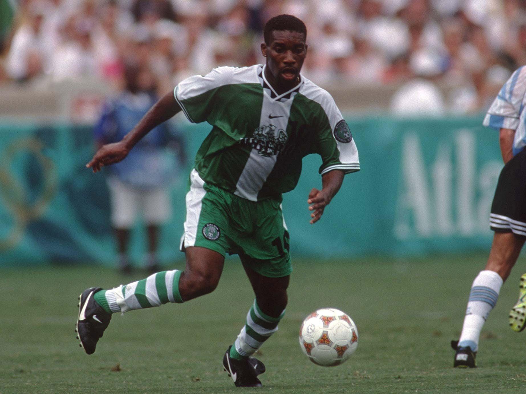 FUSSBALL: Nationalmannschaft 1996 NIGERIA/NGA 03.08.96