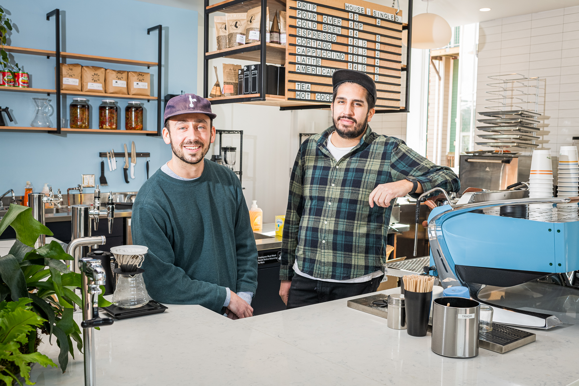 Lost Sock Coffee founders Nico Cabrera, right, and Jeff Yerxa.