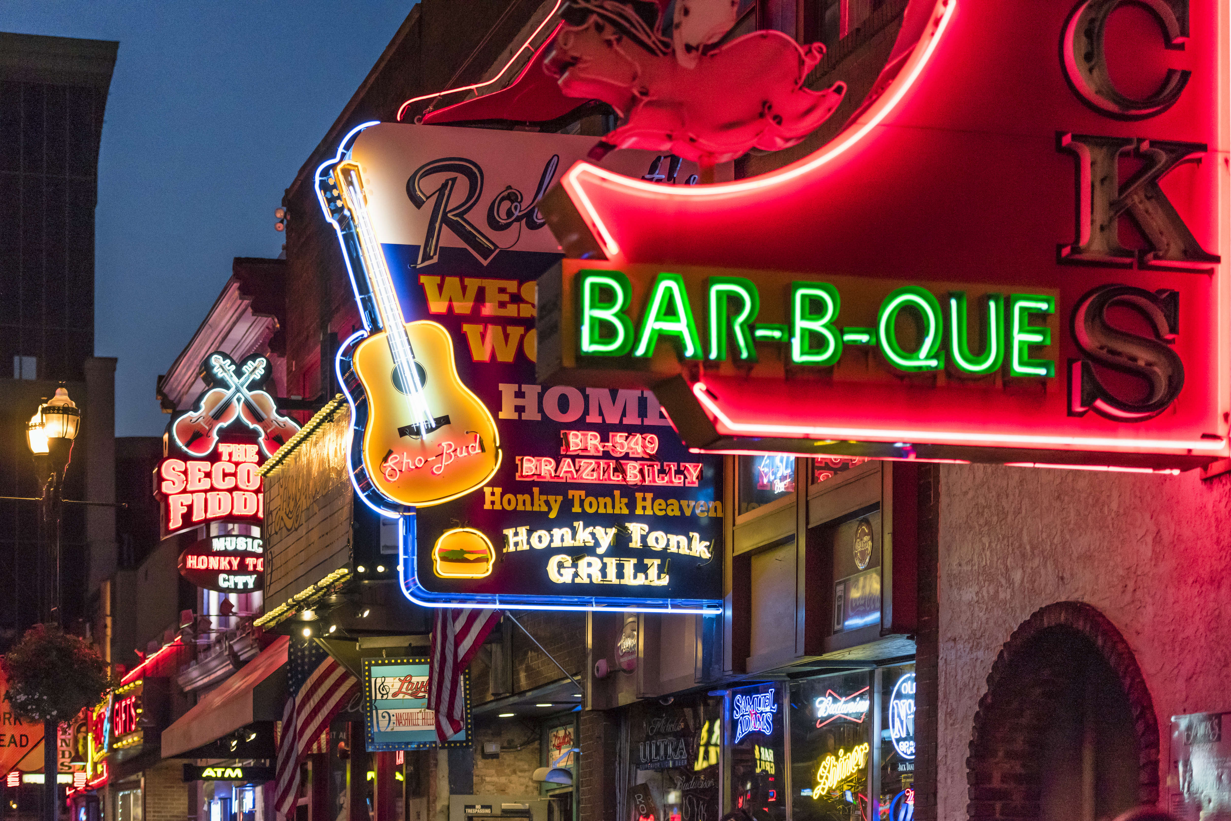 Country Music bars on Broadway...