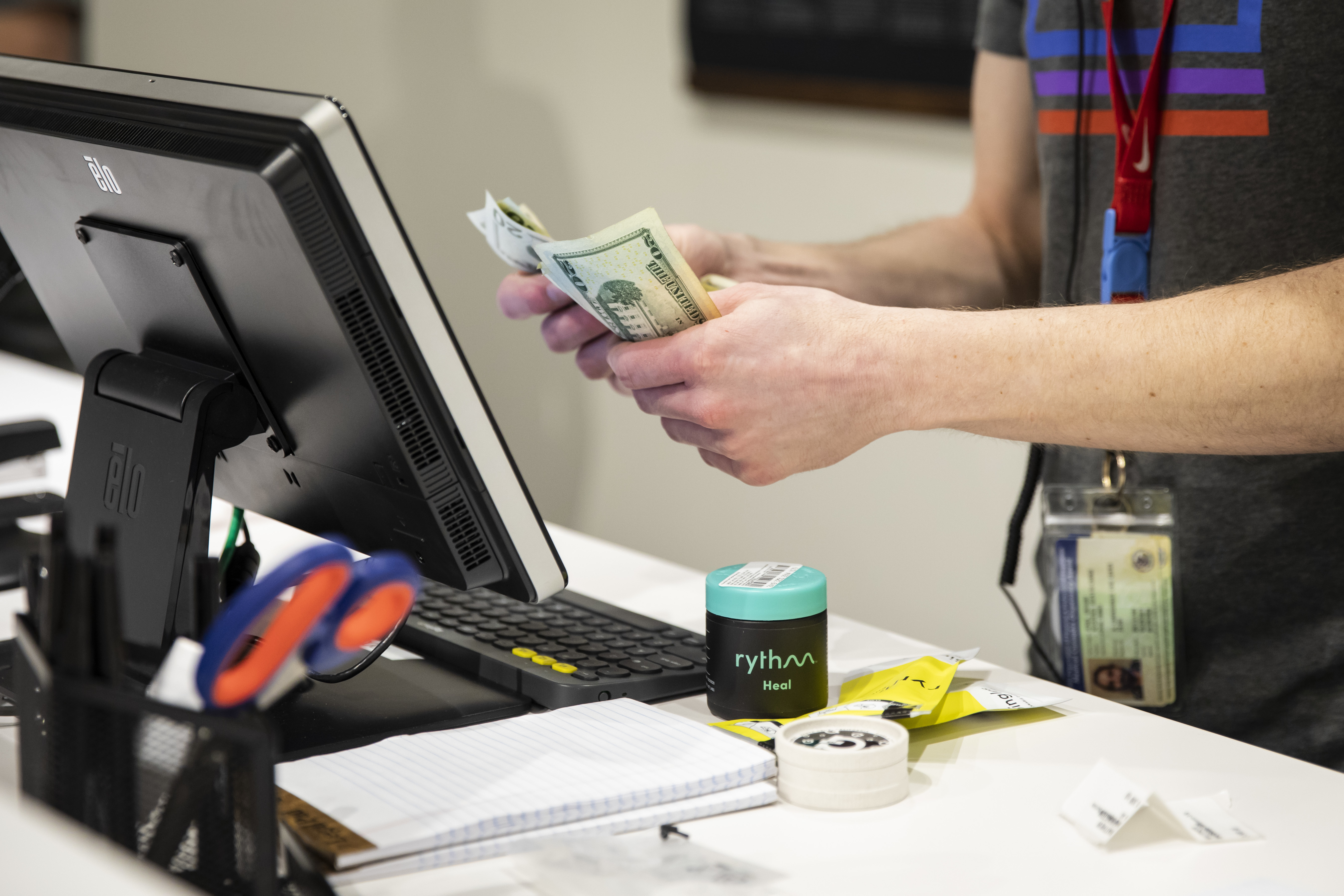 The first batch of customers make their purchases at Rise Joliet. A new ordinance aims to streamline the zoning process to attract a flood of new cannabis license winners.