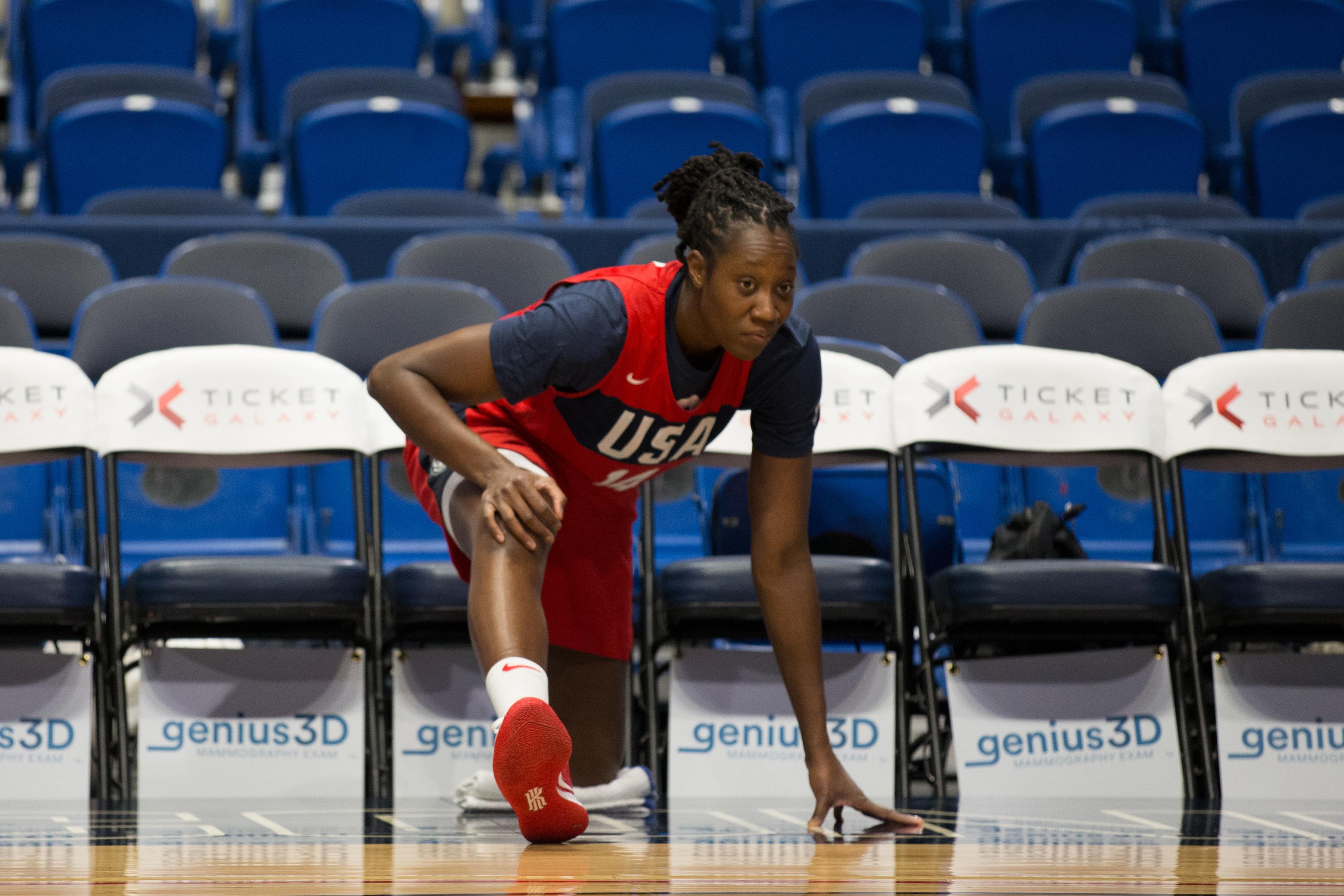 United State Women's Basketball Shoot Around