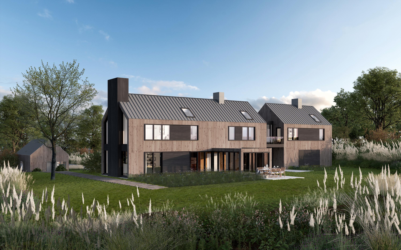 Modern Barnhouse rendering