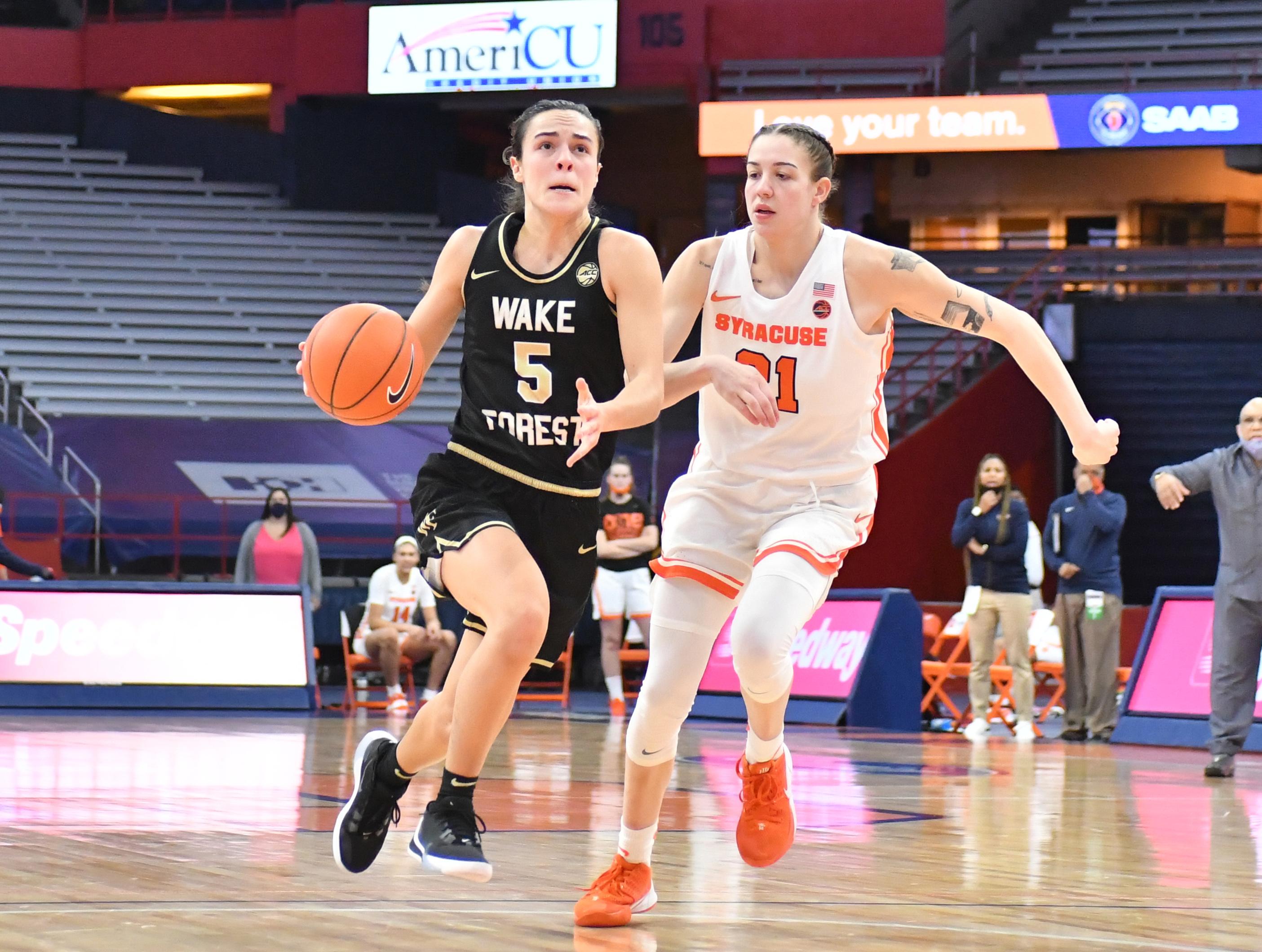 NCAA Womens Basketball: Wake Forest at Syracuse