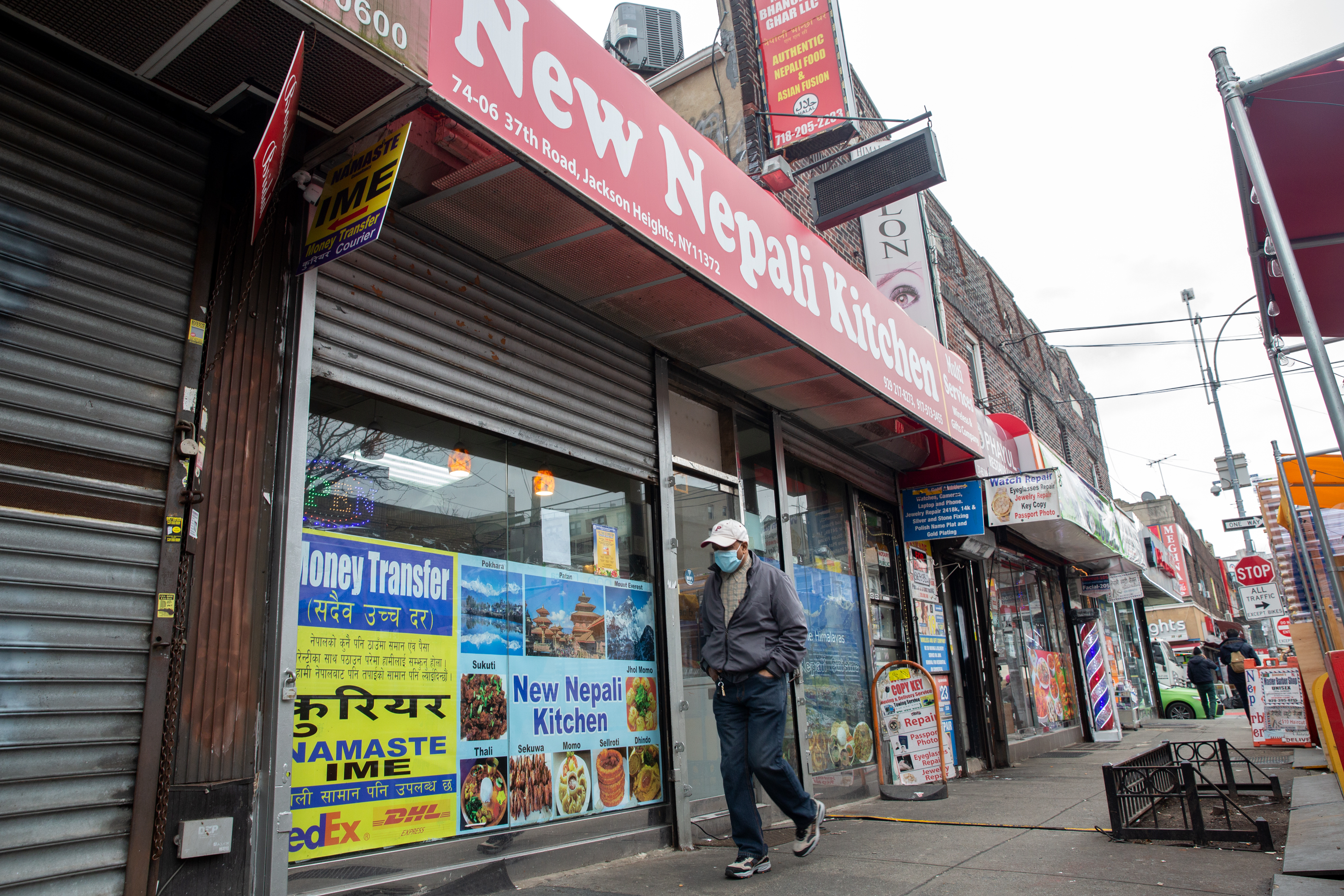 """Many in the large Nepali community in Jackson Heights, Queens, have """"temporary protected status"""" because of a 2015 earthquake."""
