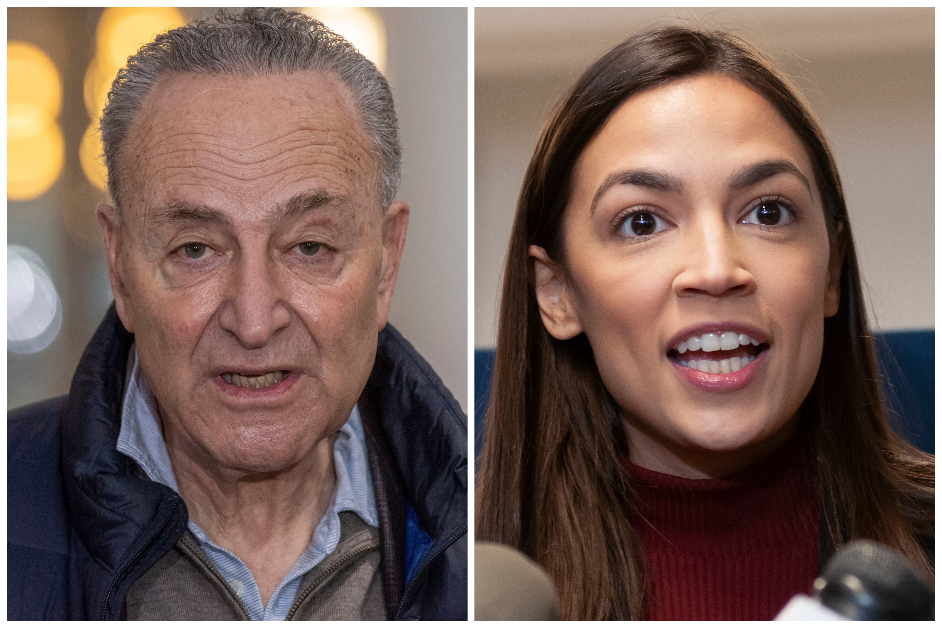 Senate Majority Leader Charles Schumer and Congressmember Alexandria Ocasio-Cortez announced a plan to help families with burial cots for victims of the coronavirus.