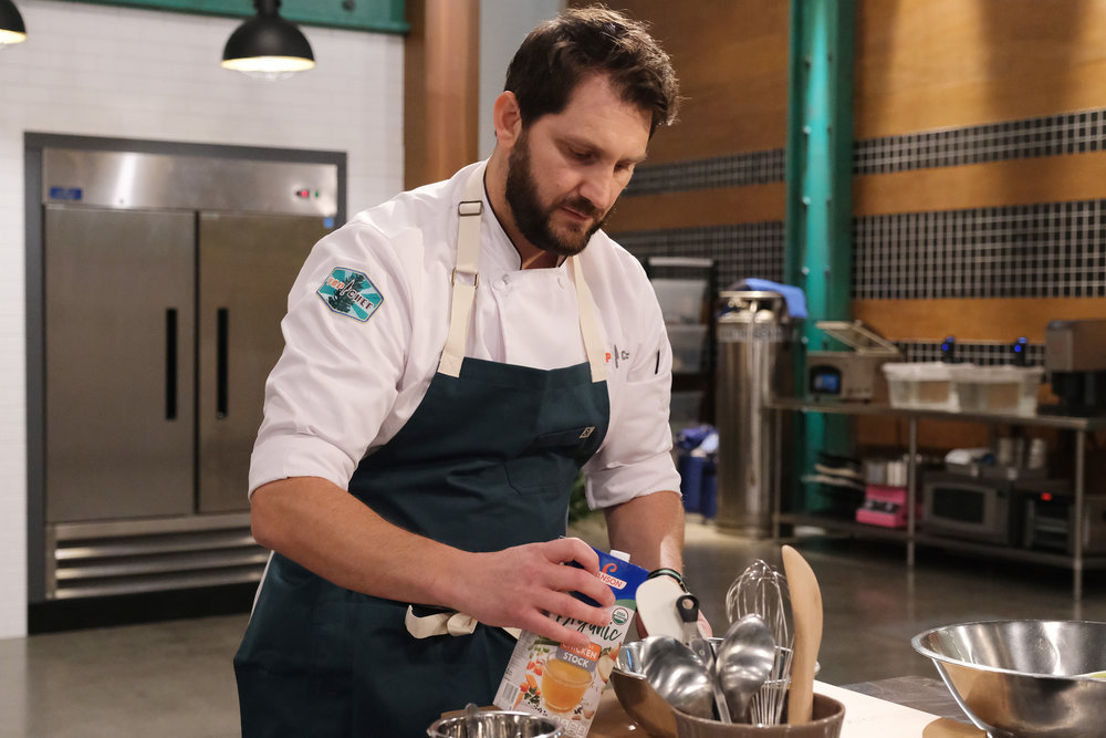Chef Gabe Erales during the Season 18 premiere episode of Top Chef