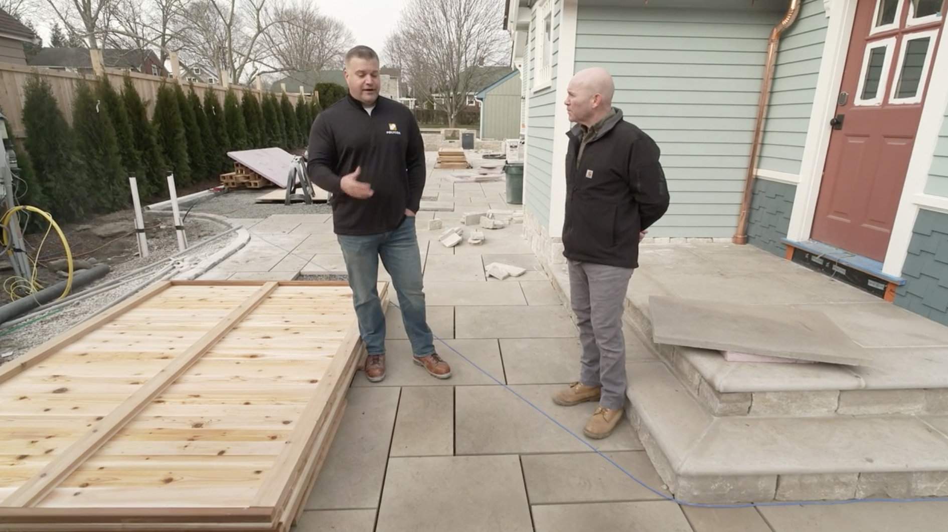 Reviewing Polycor natural stone elements in the TOH Season 42 project, the Seaside Victorian Cottage.