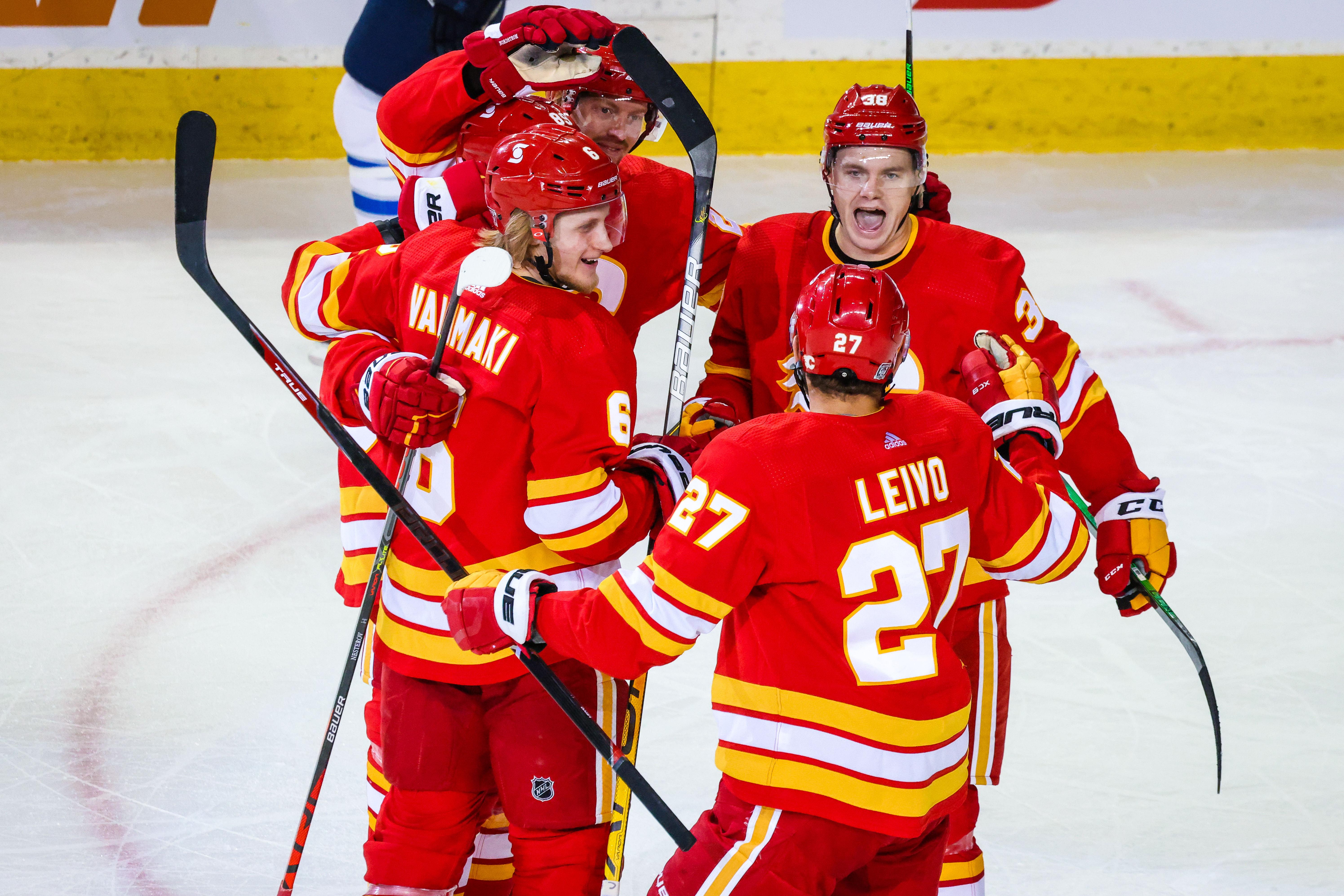 NHL: Winnipeg Jets at Calgary Flames