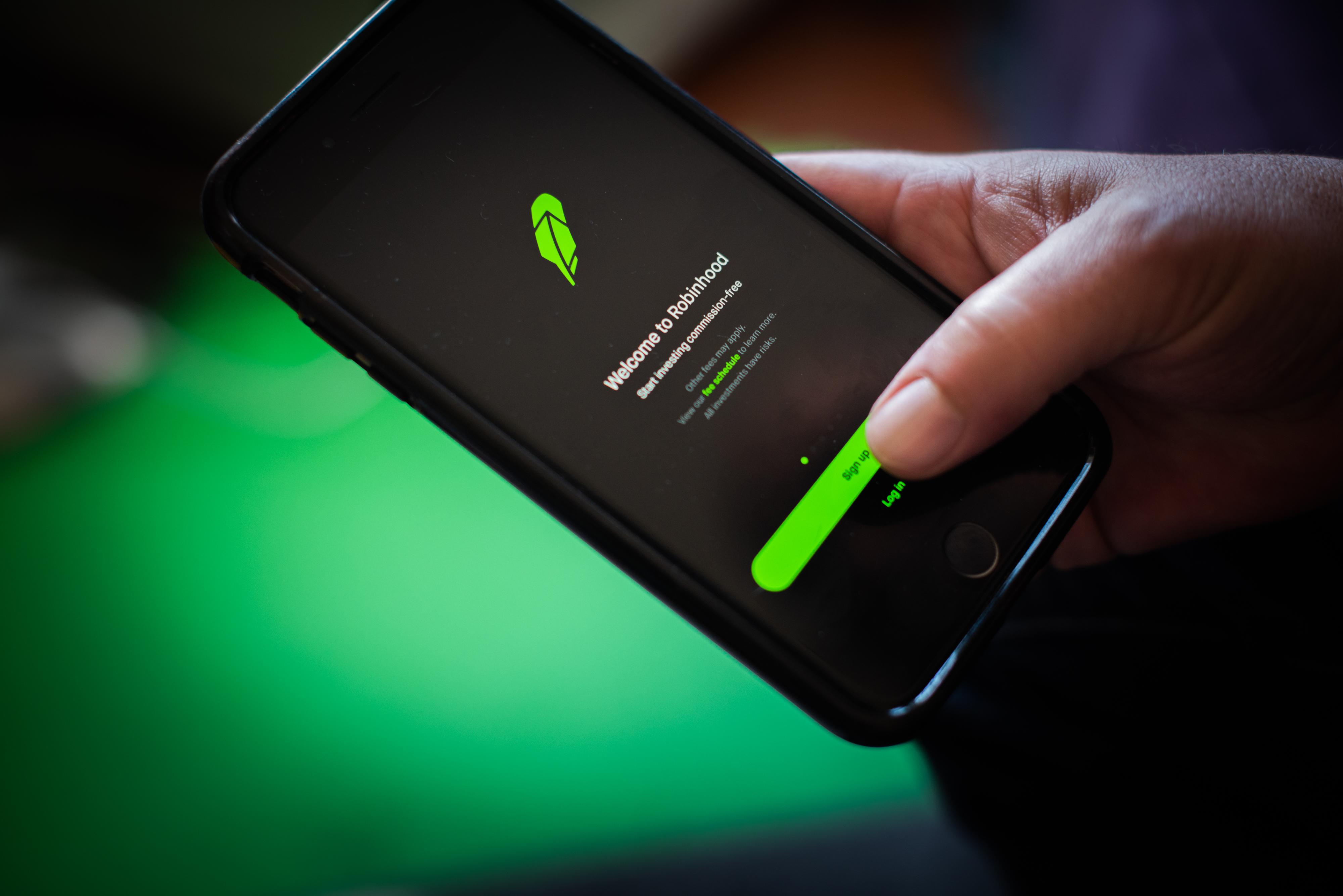The Robinhood app on a smartphone.