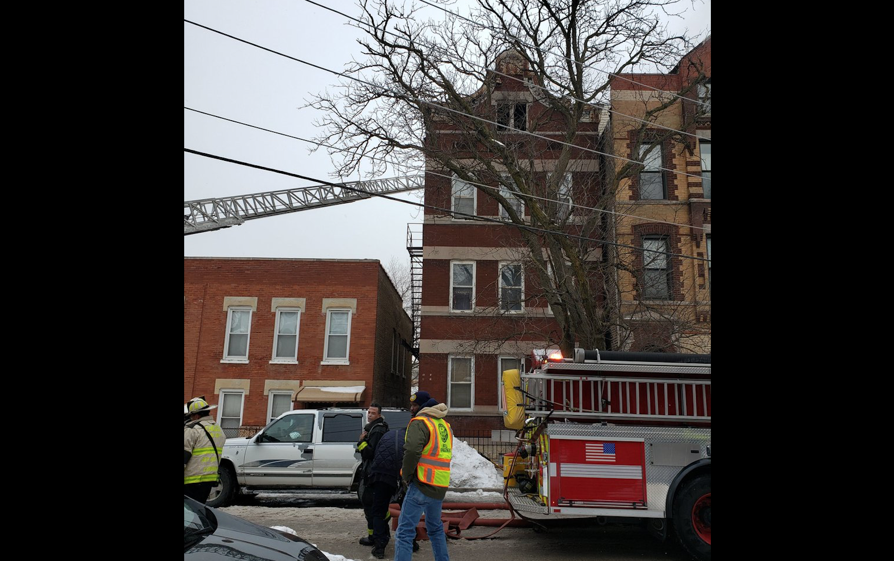 Firefighters respond to a blaze Feb. 10 in the 1000 block of West 32nd Street.